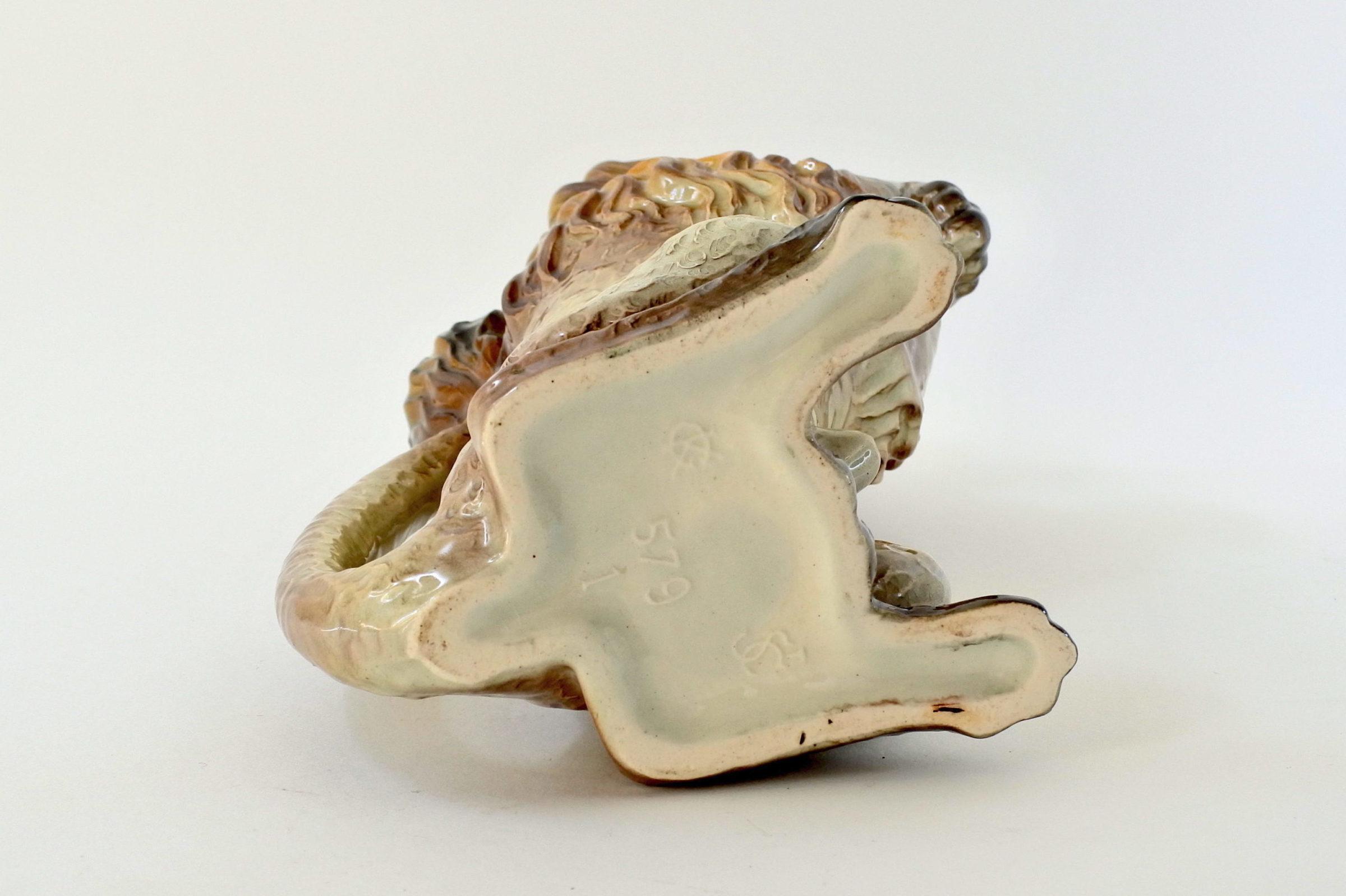 Brocca in ceramica barbotine con forma di barboncino - 6