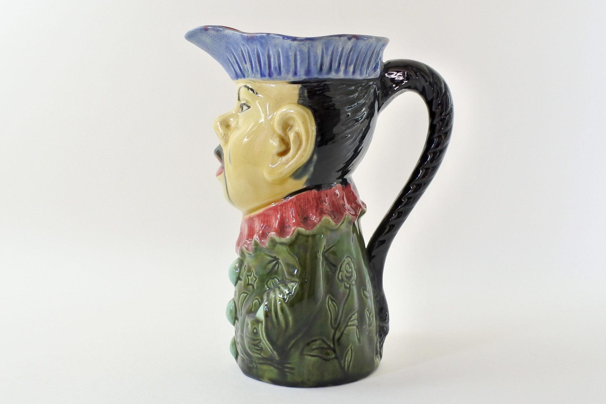 Brocca in ceramica barbotine a forma di cinese - Orchies - 2