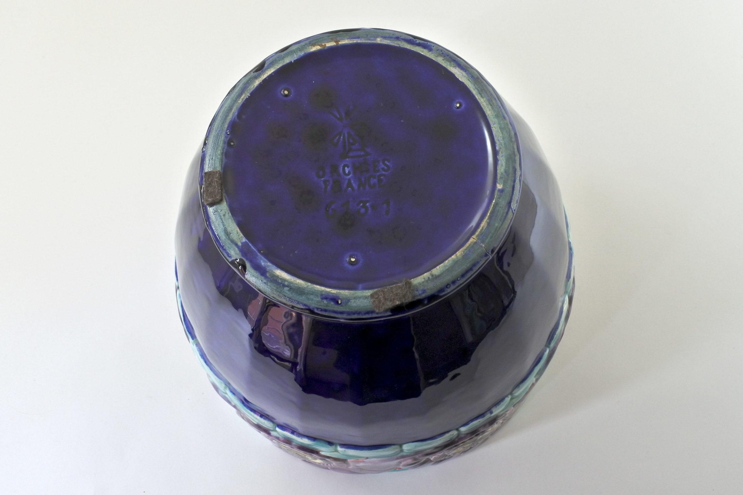 Grande cache pot Orchies in ceramica barbotine - Déco - 5