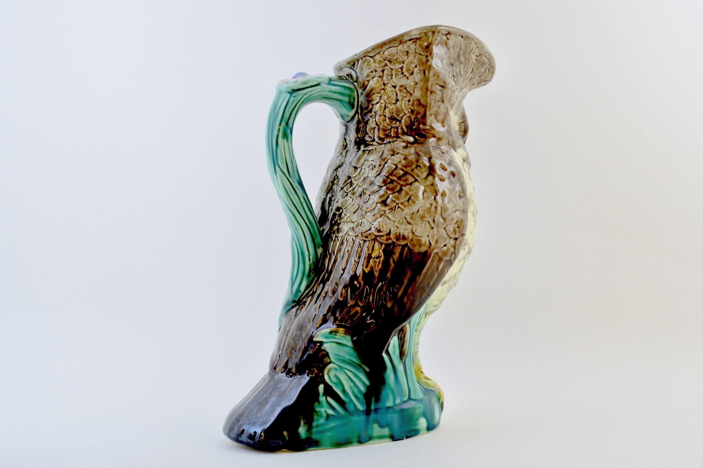 Brocca in ceramica barbotine a forma di civetta - Chouette - 3