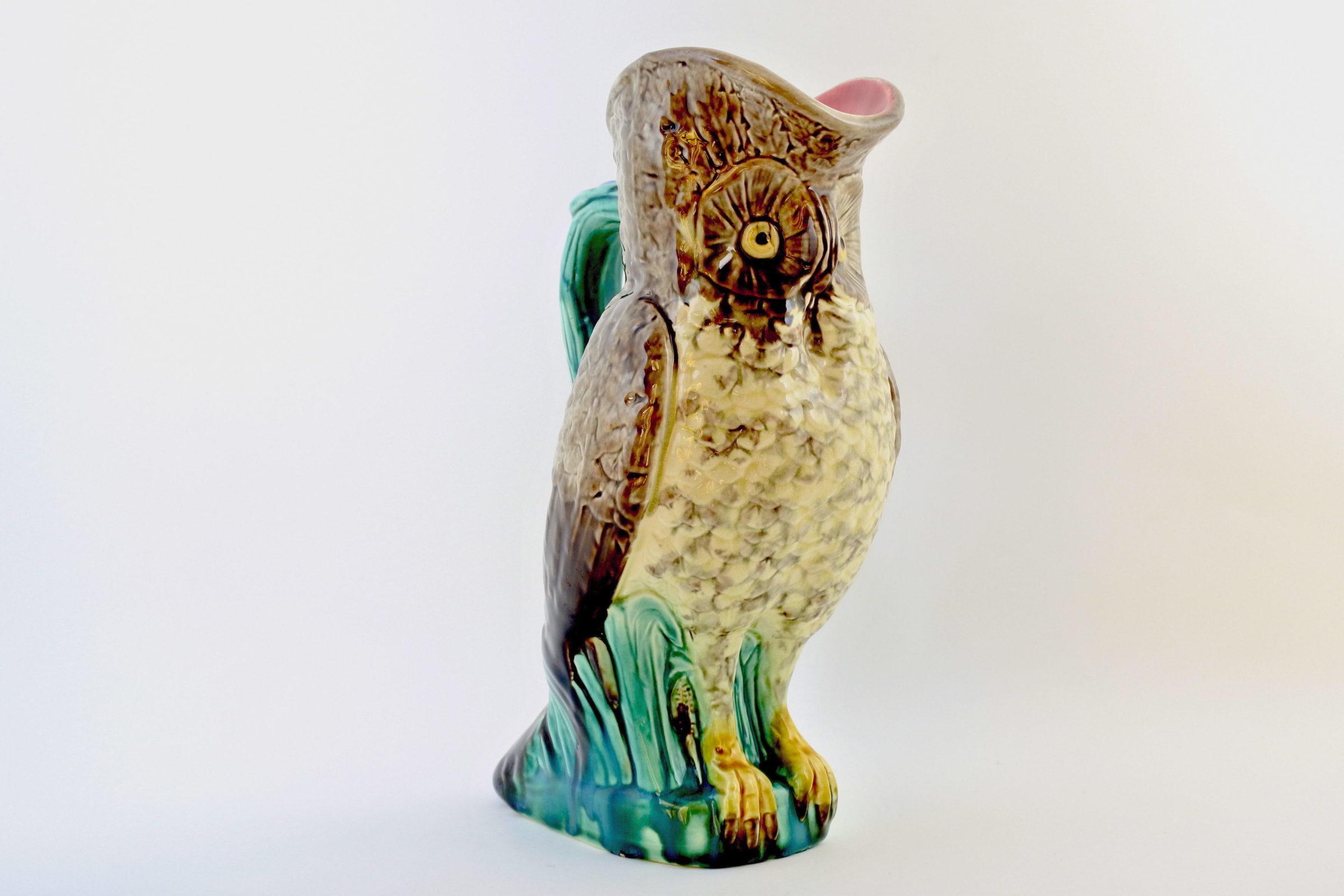Brocca in ceramica barbotine a forma di civetta - Chouette - 4