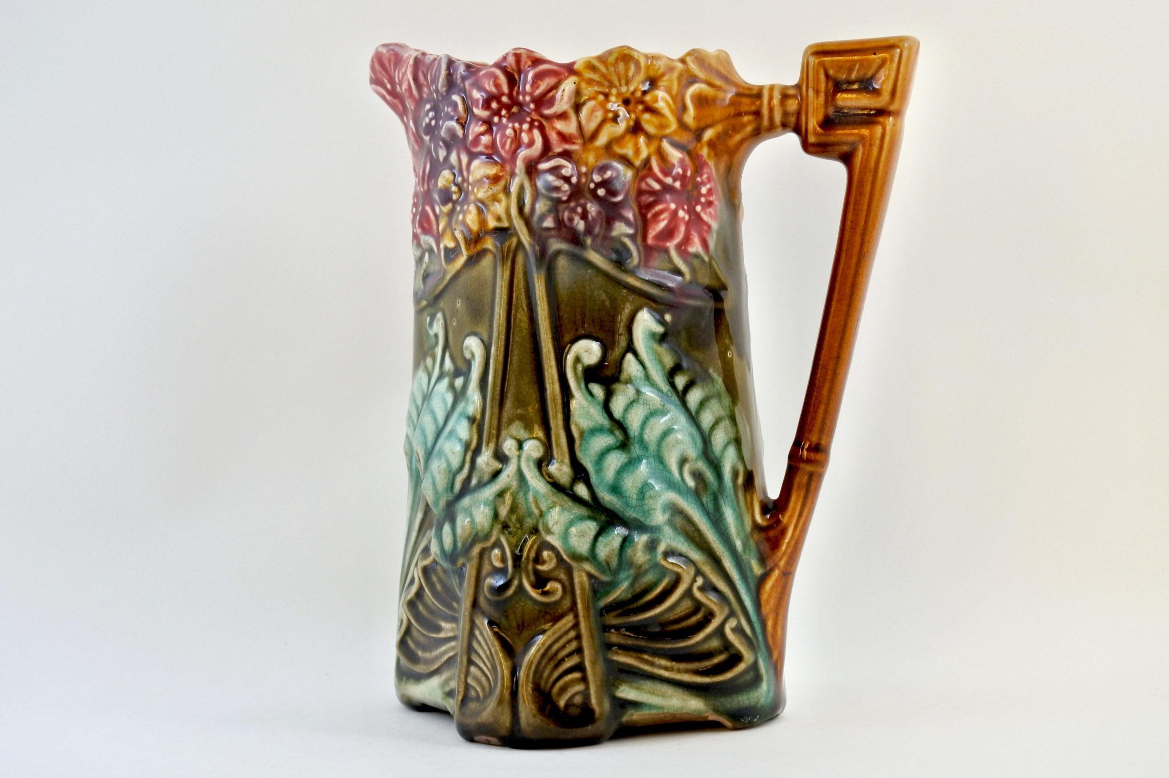 Brocca in ceramica barbotine con giacinti - Jacinthes - 2
