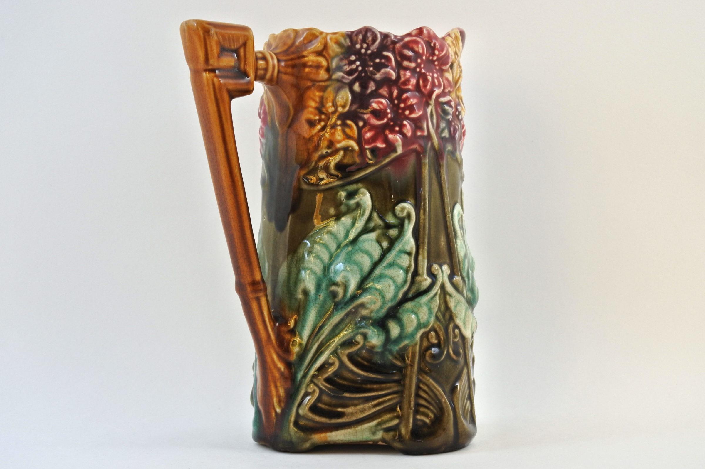 Brocca in ceramica barbotine con giacinti - Jacinthes - 3