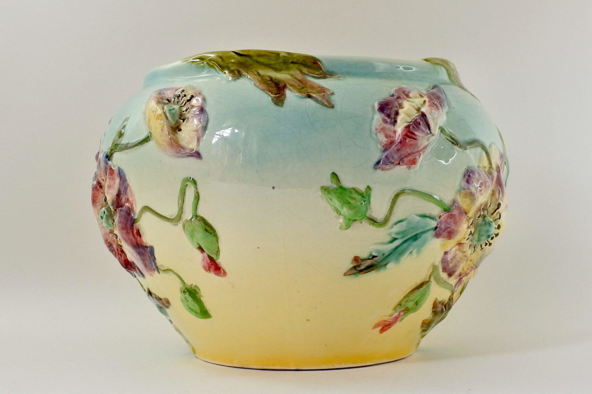 Cache pot in ceramica barbotine - Manifattura Longchamp - 2