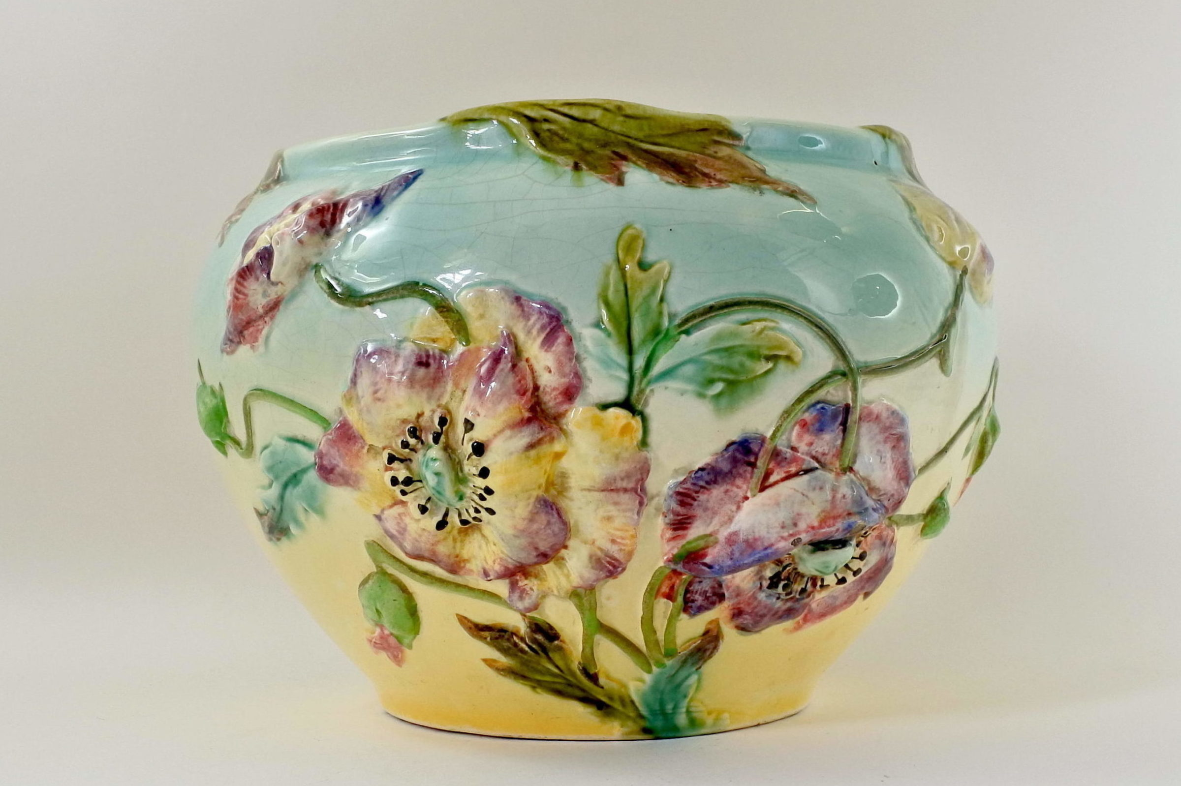 Cache pot in ceramica barbotine - Manifattura Longchamp - 3