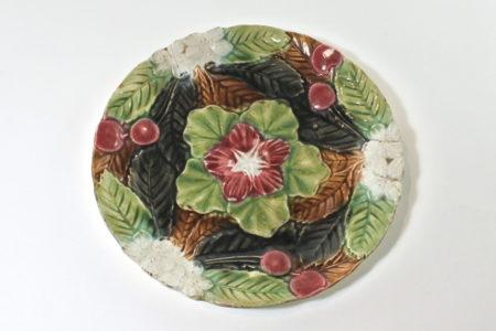 Piatto in ceramica barbotine - Manifattura Orchies