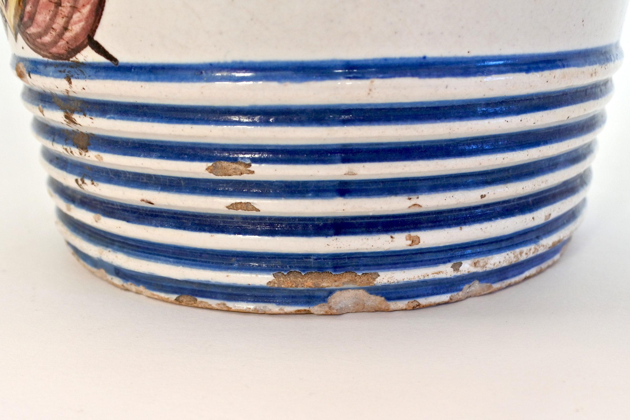Cestino in ceramica decorato con stemma Sabaudo - 10