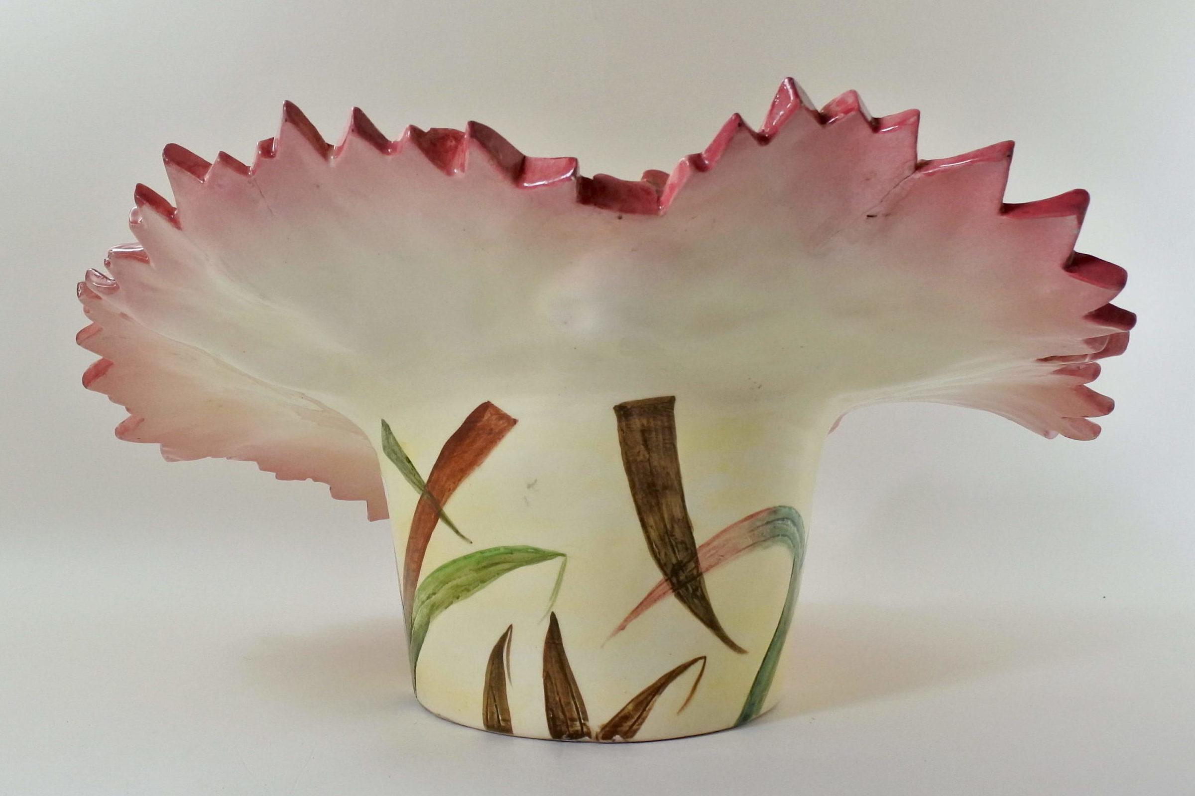 Cache pot Massier in ceramica barbotine a forma di fiore - 3