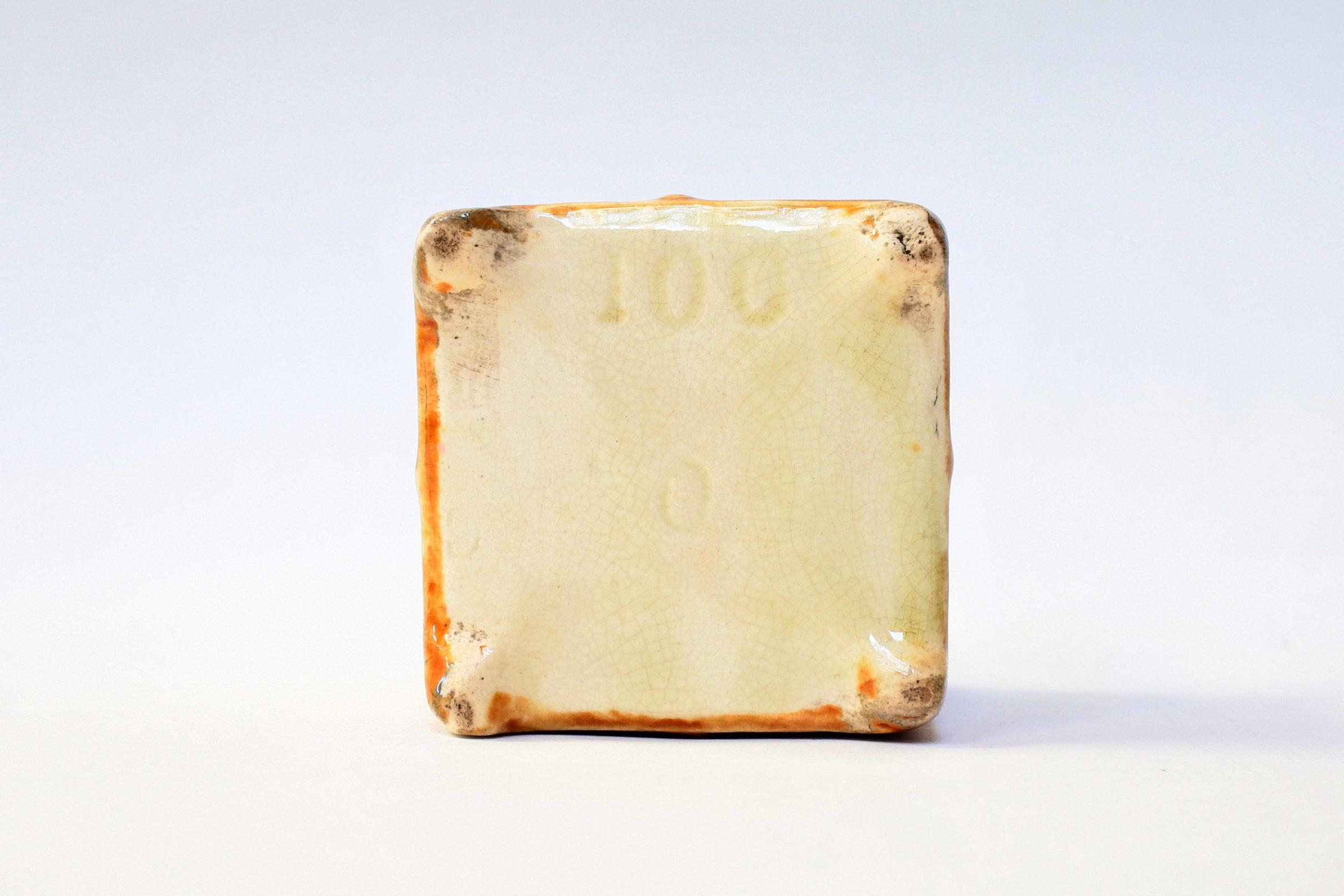 Coppia di piccoli cache pot in ceramica barbotine - 6