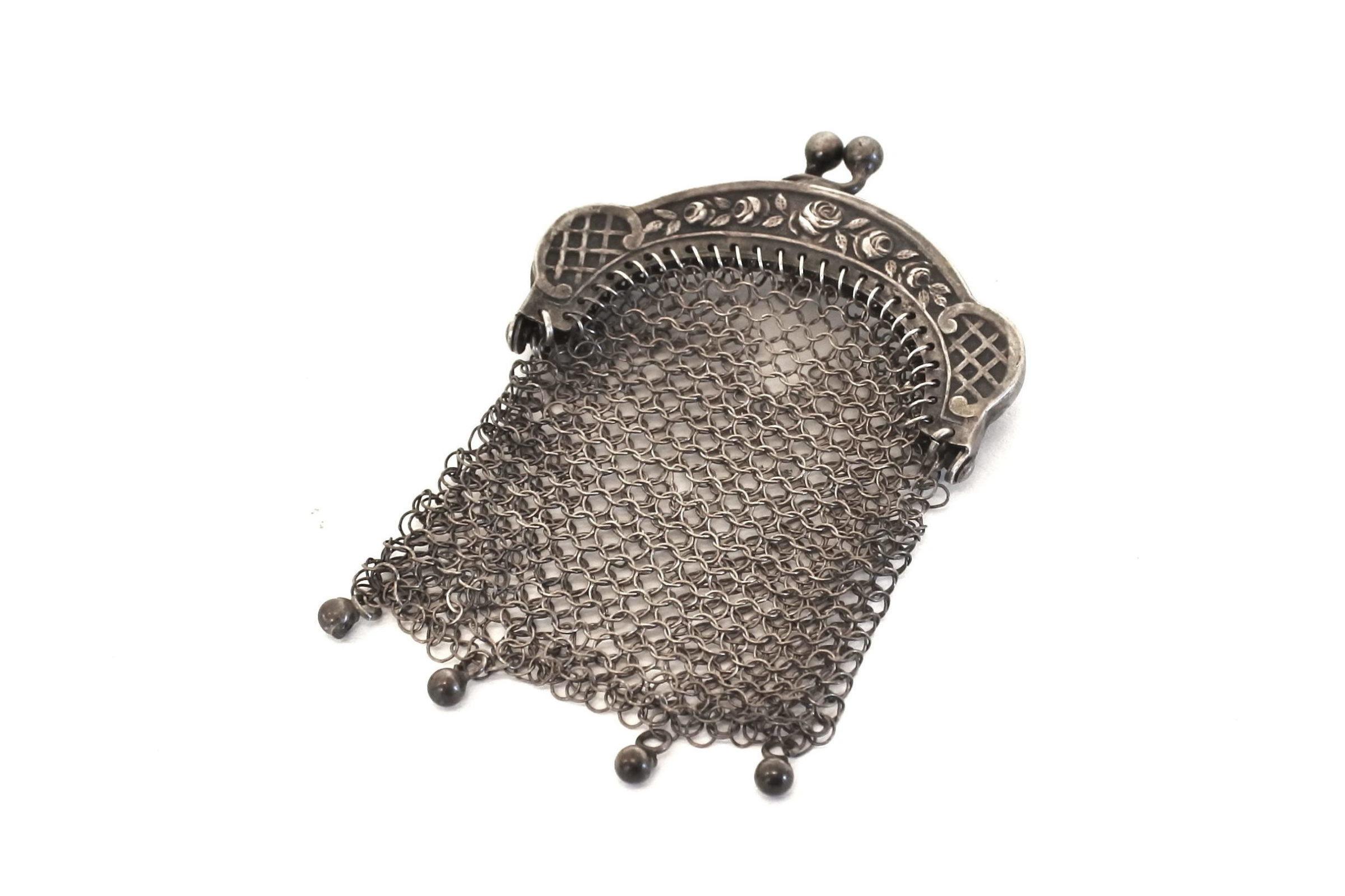 Portamonete in maglia d'argento - 2