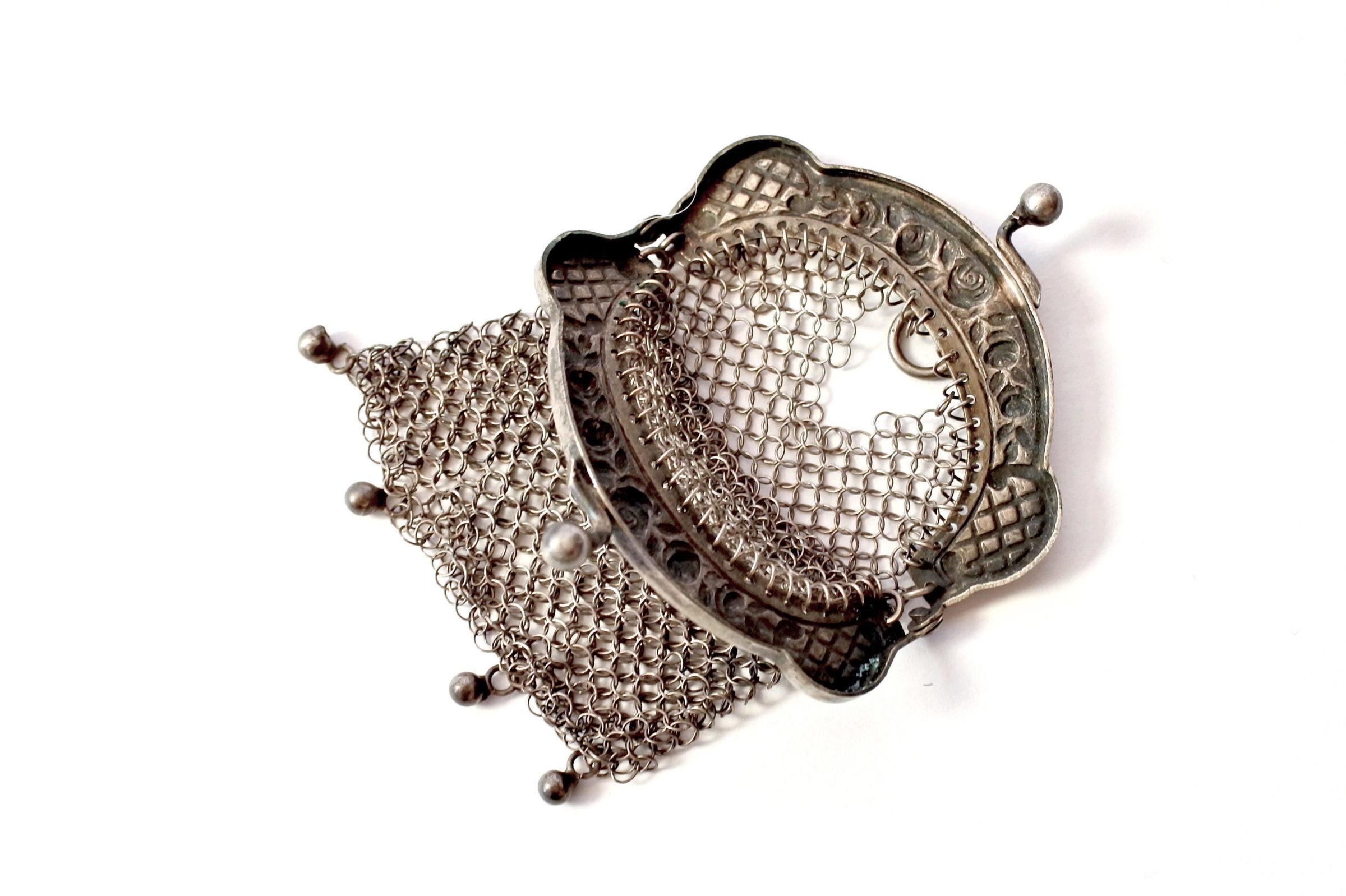 Portamonete in maglia d'argento - 3