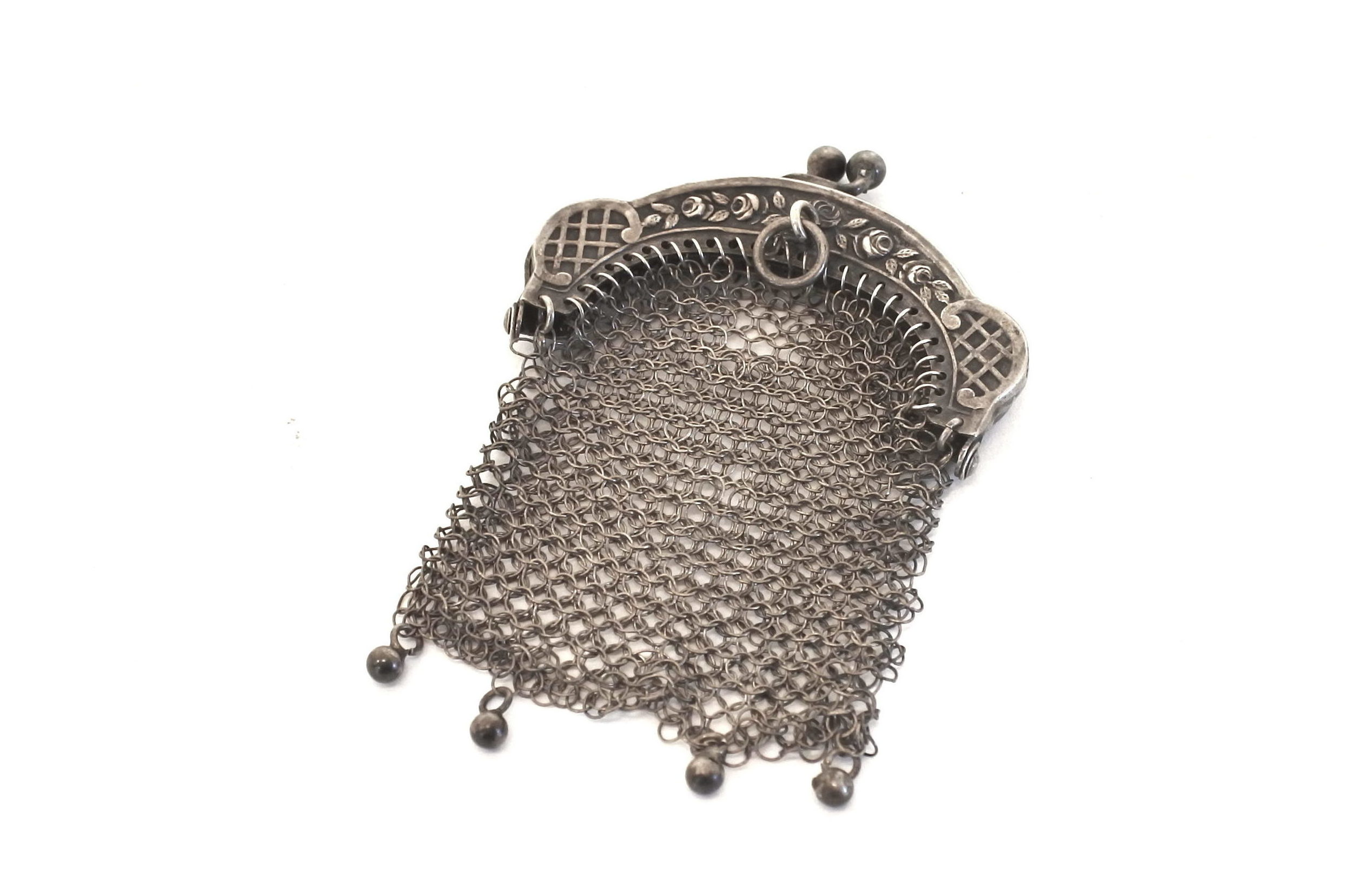 Portamonete in maglia d'argento