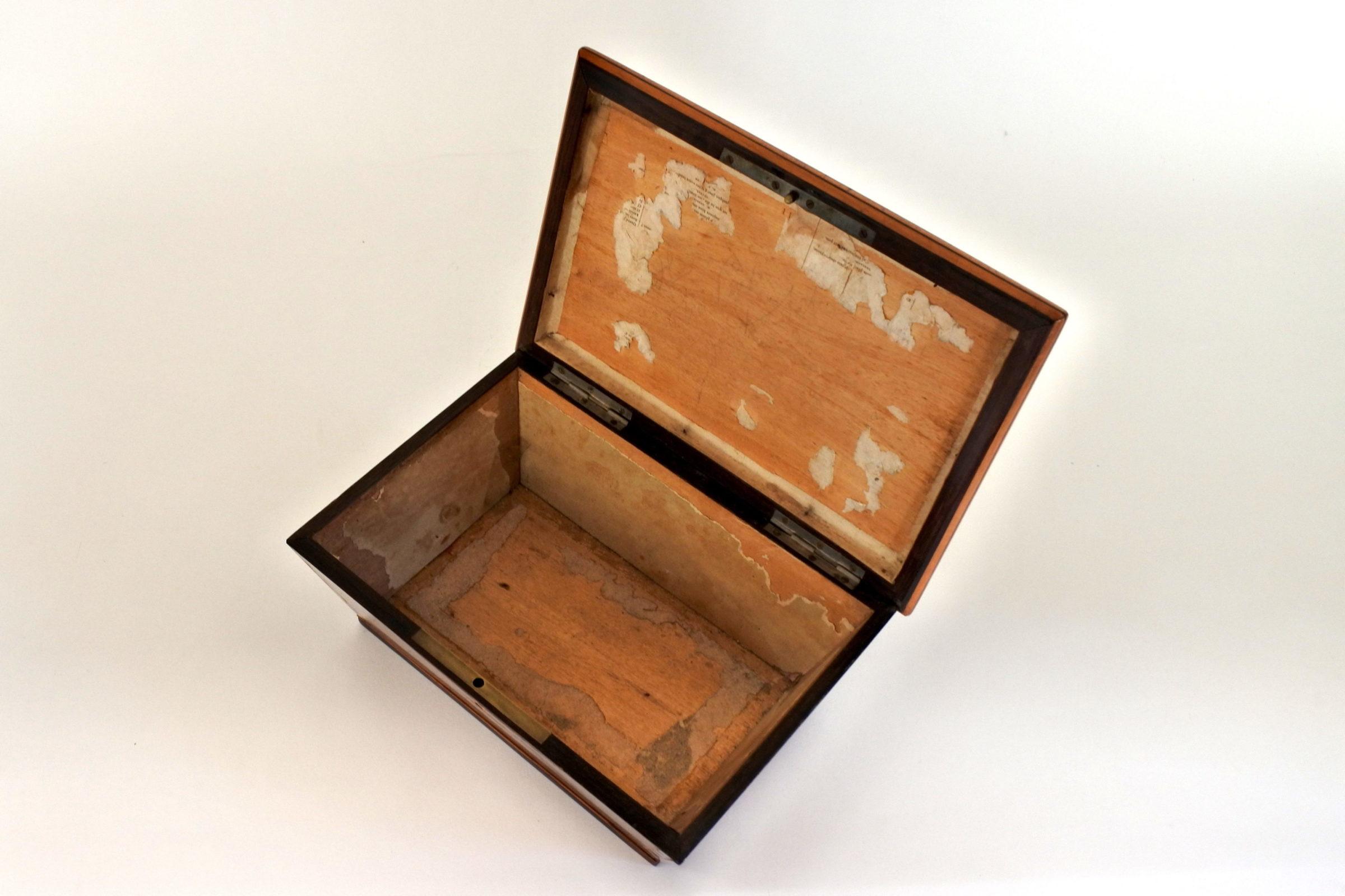 Scatola intarsiata in radica di legno - 8