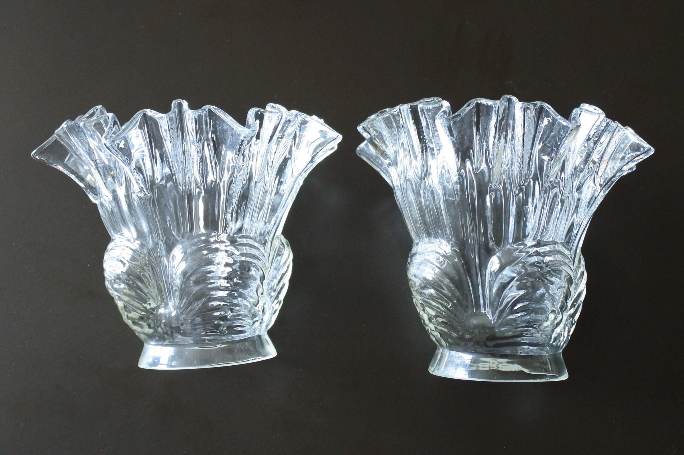 Coppia di tulipes per appliques in vetro - 2