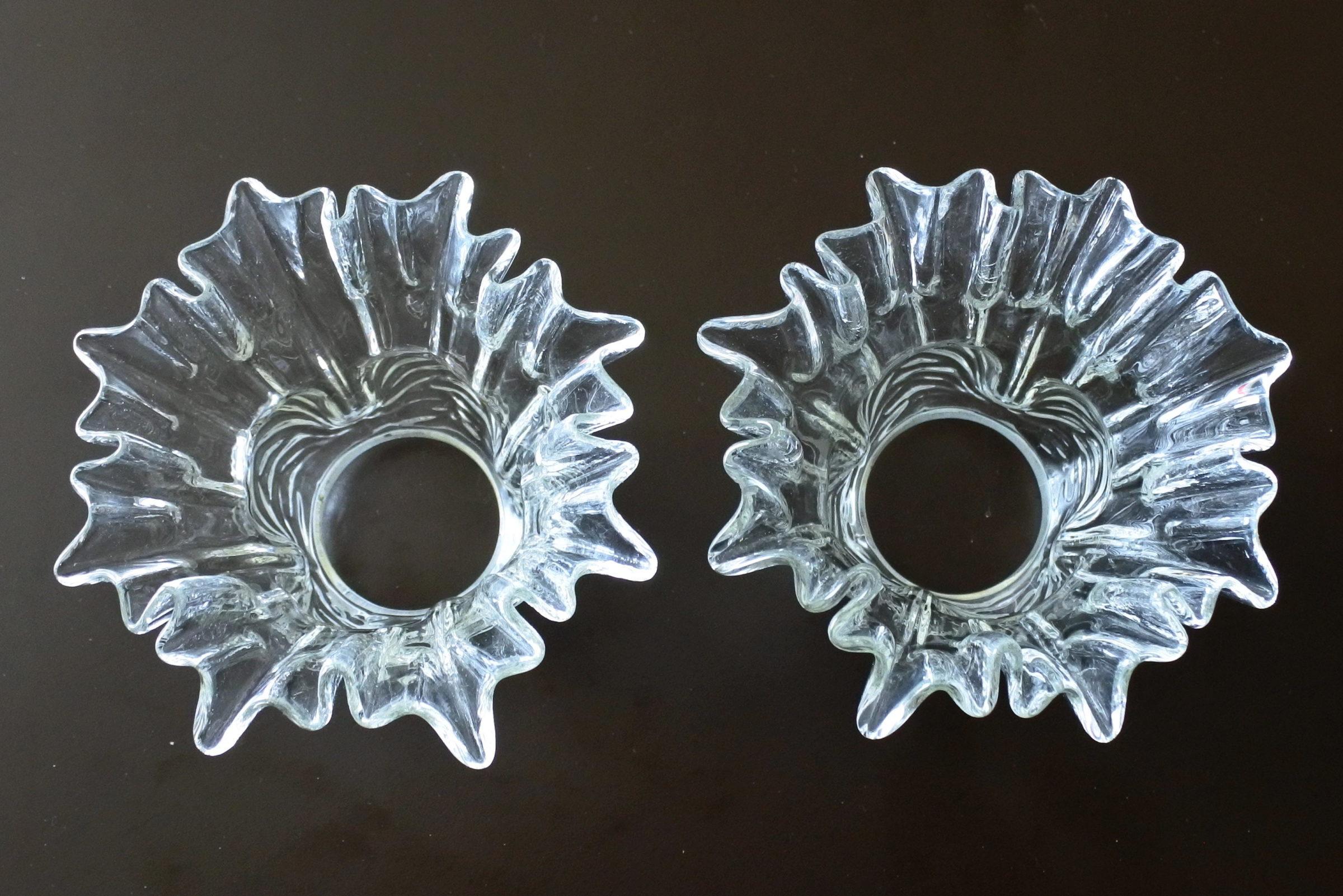 Coppia di tulipes per appliques in vetro - 3