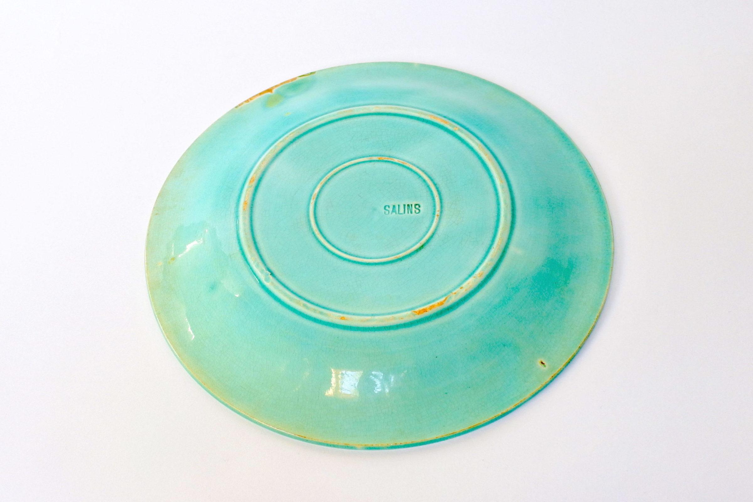 Piatto in ceramica barbotine - Manifattura Salins - 2