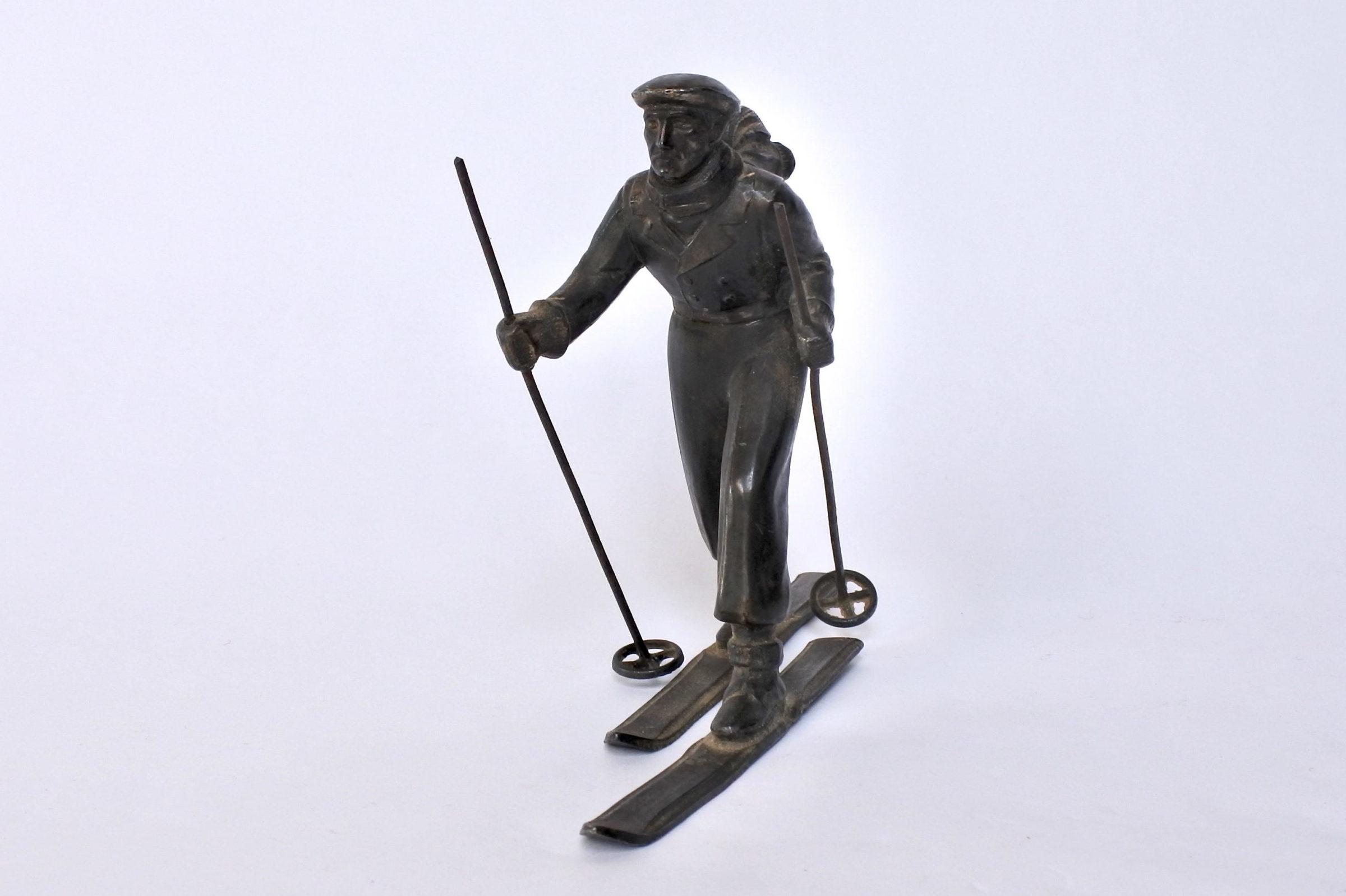 Sciatore in bronzo degli inizi del XX° secolo - 2