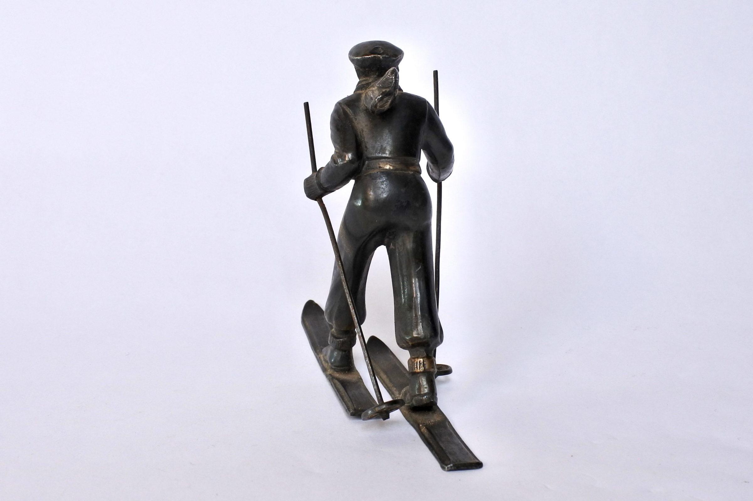 Sciatore in bronzo degli inizi del XX° secolo - 3