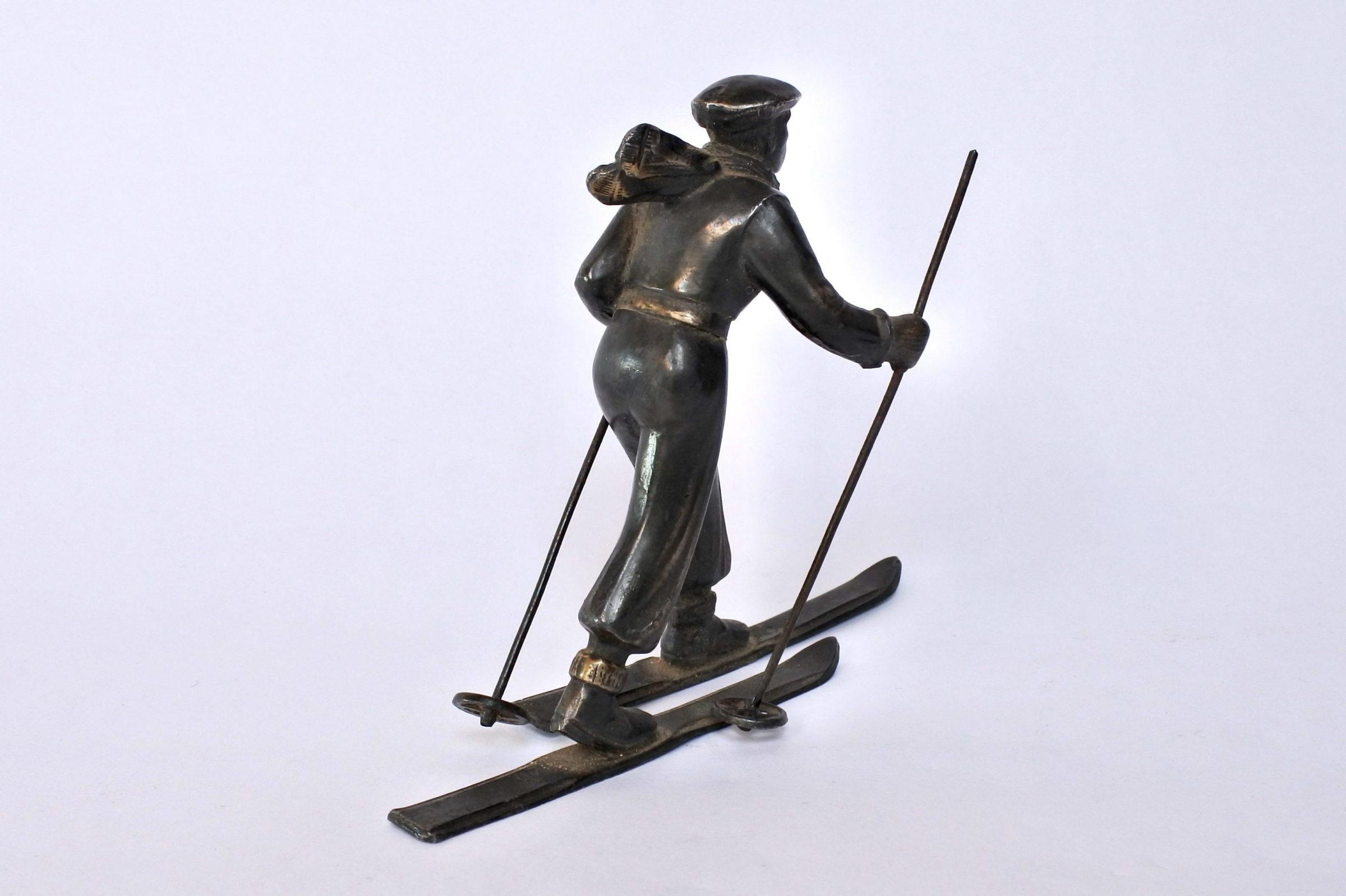 Sciatore in bronzo degli inizi del XX° secolo - 4