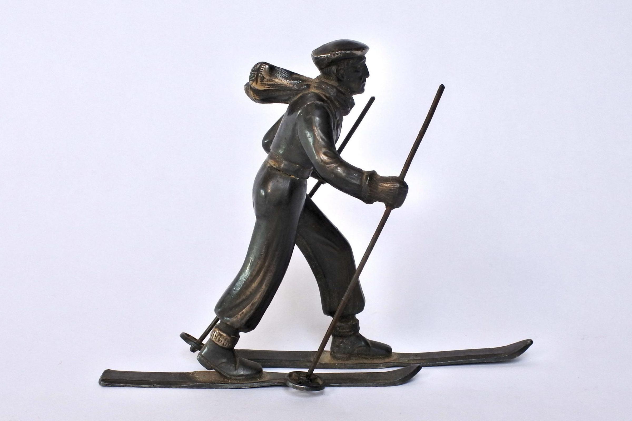 Sciatore in bronzo degli inizi del XX° secolo - 5