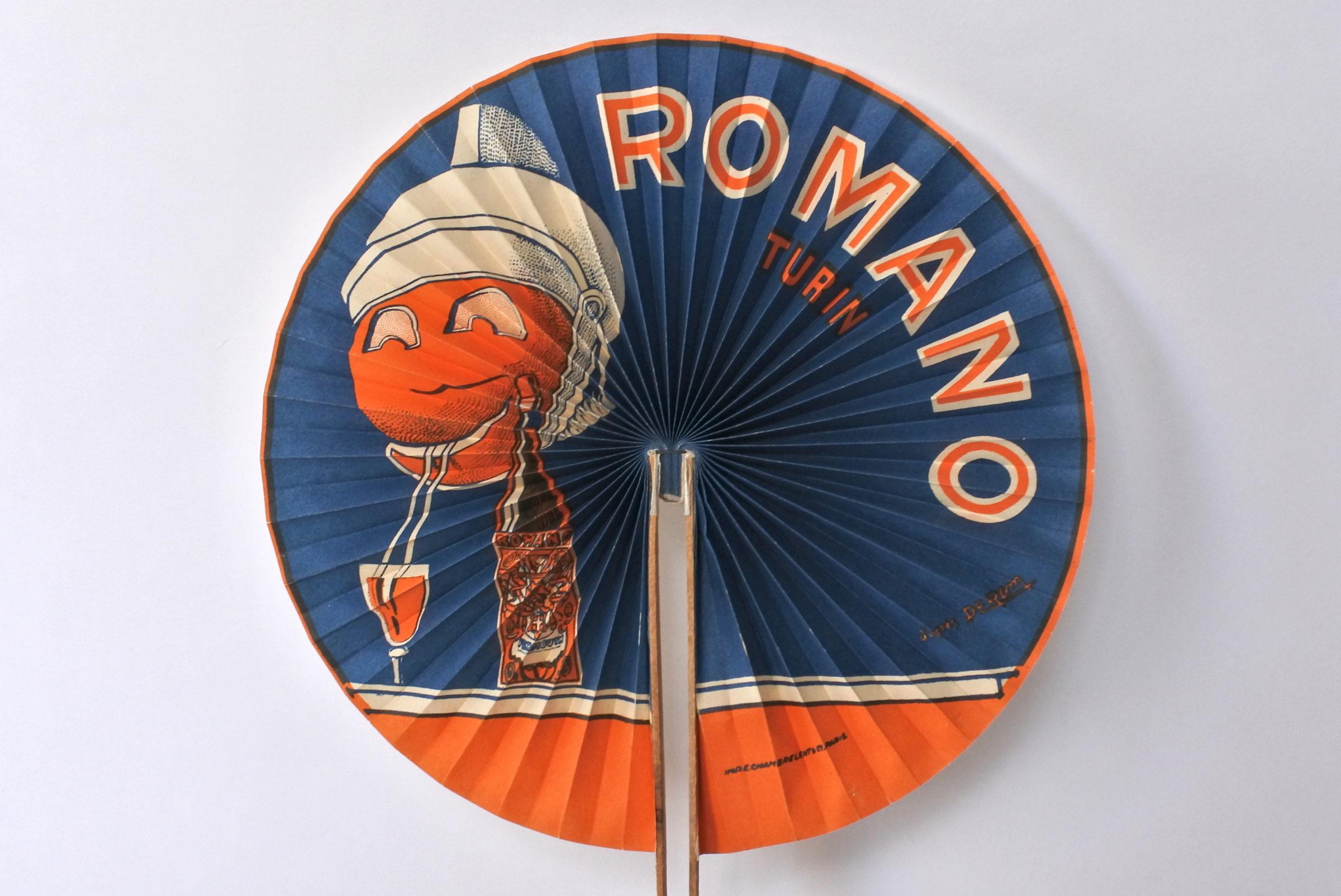 Ventaglio pubblicitario vermut Romano Turin - 3