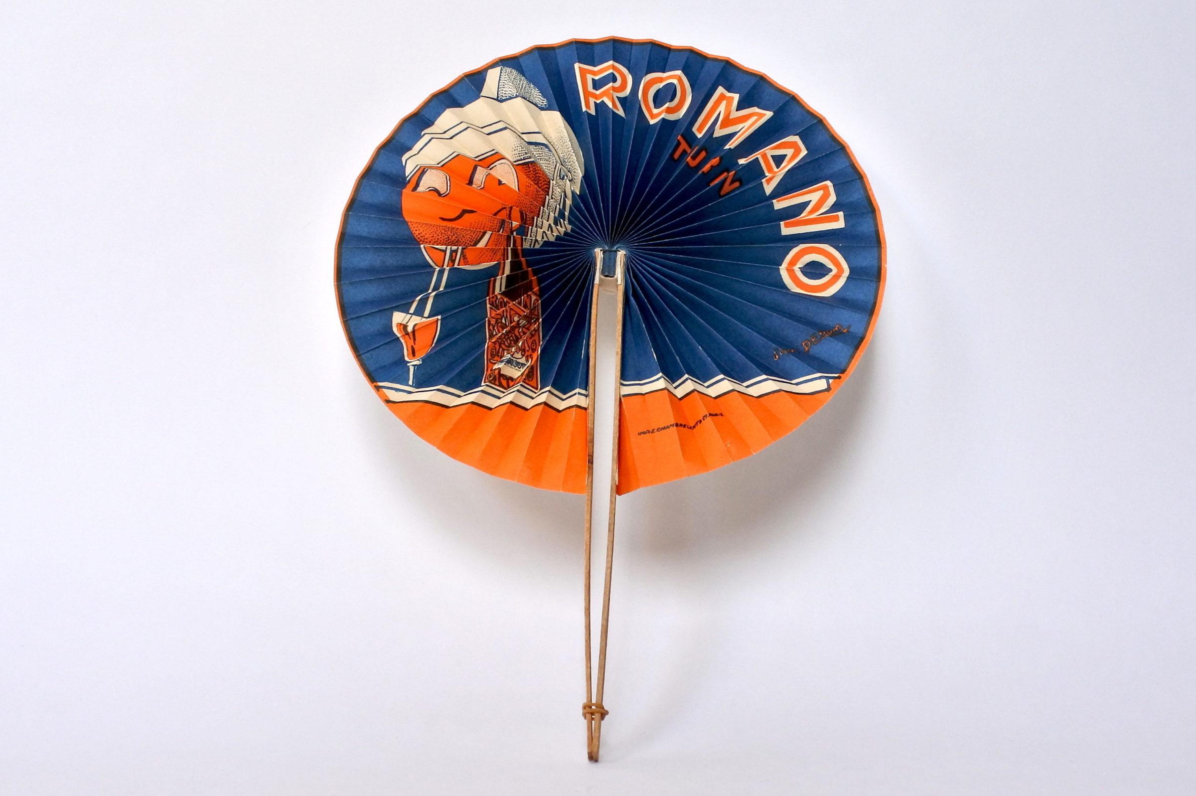 Ventaglio pubblicitario vermut Romano Turin