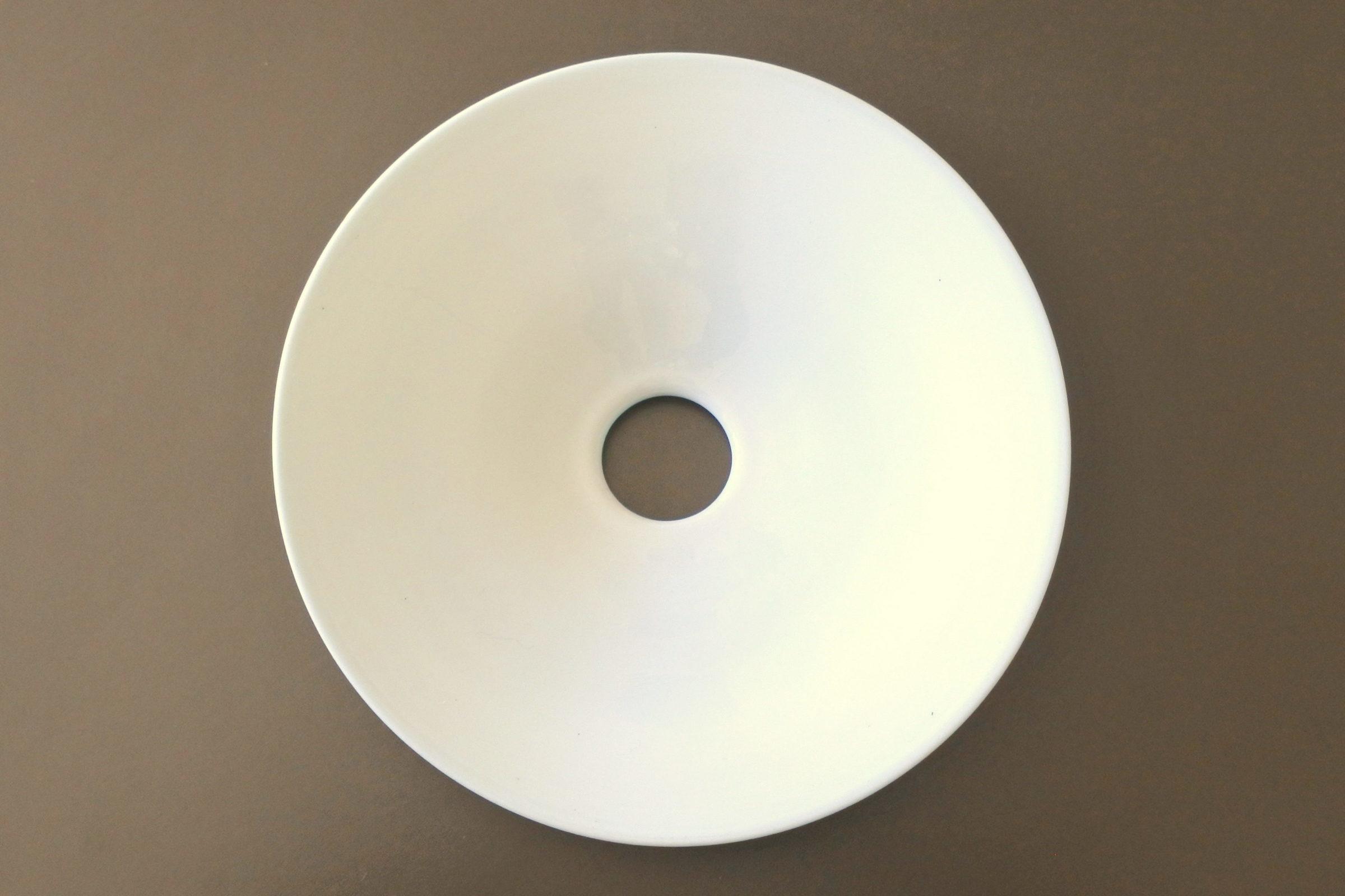 Vetro opalino incamiciato verde e bianco per lampada a sospensione - 2