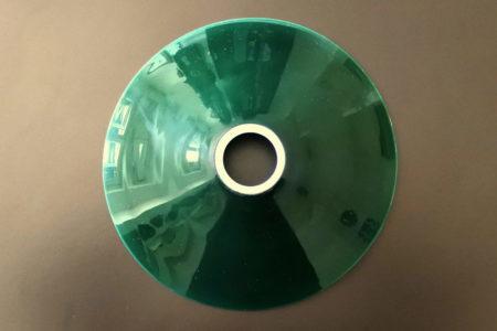 Vetro opalino incamiciato verde e bianco per lampada a sospensione