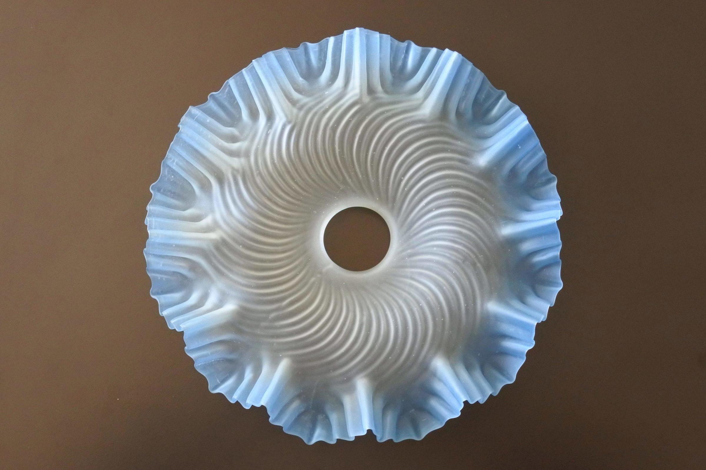 Vetro satinato con smerli azzurri per lampada a sospensione - 2