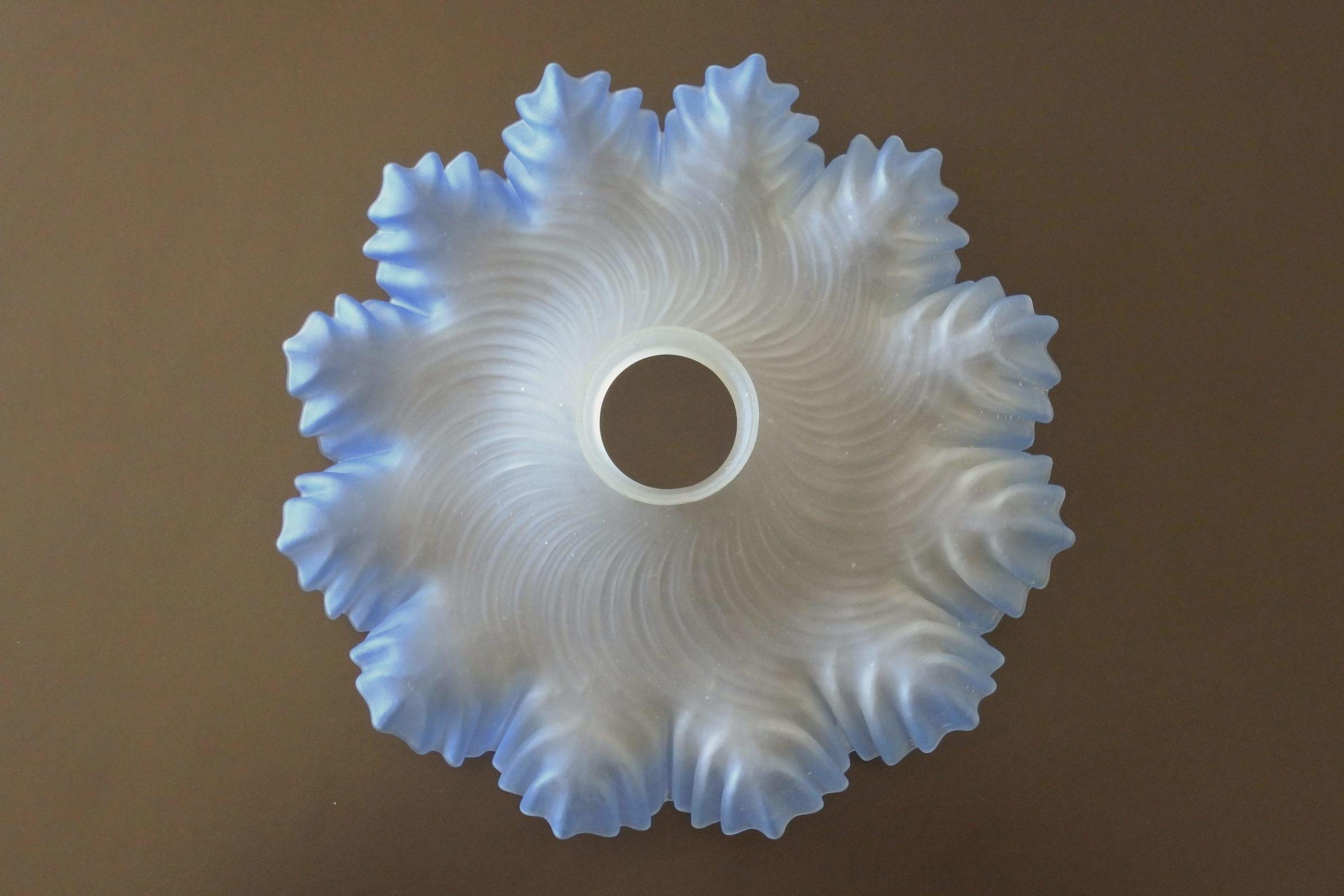 Vetro satinato con smerli azzurri per lampada a sospensione