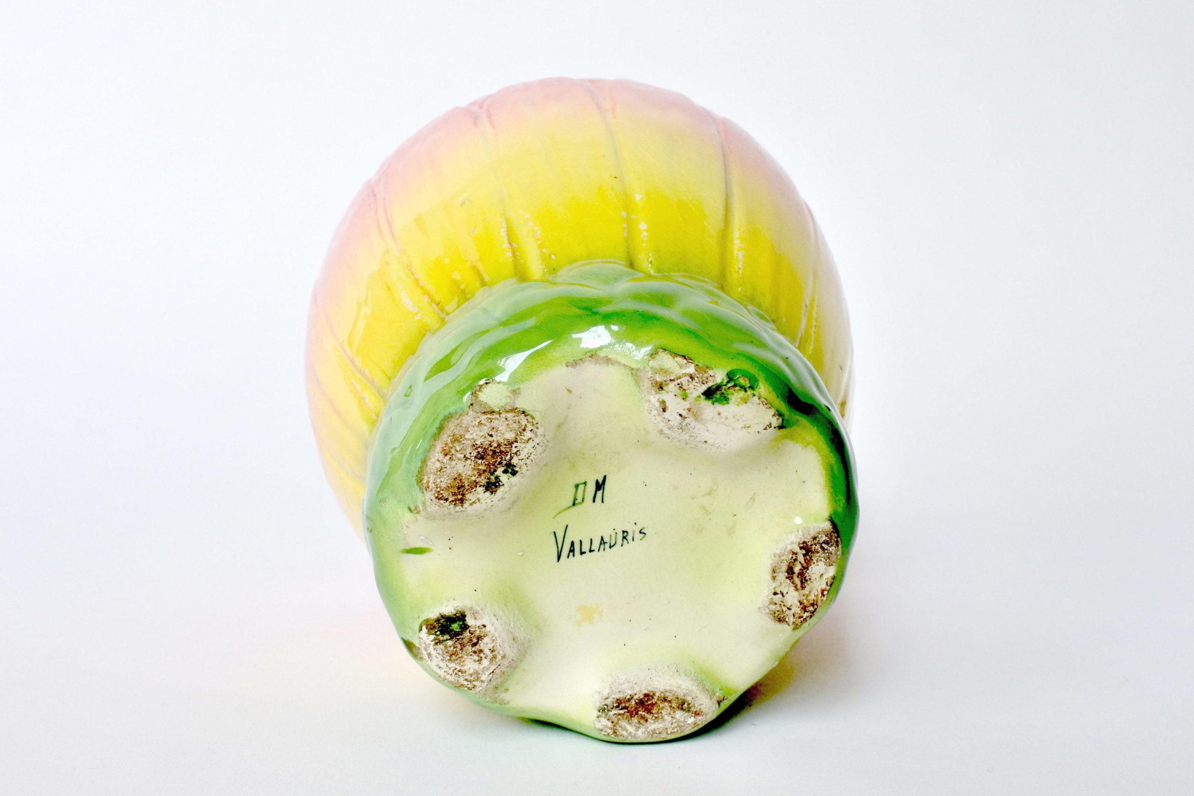 Cache pot Massier in ceramica barbotine a forma di corolla di fiore - 4