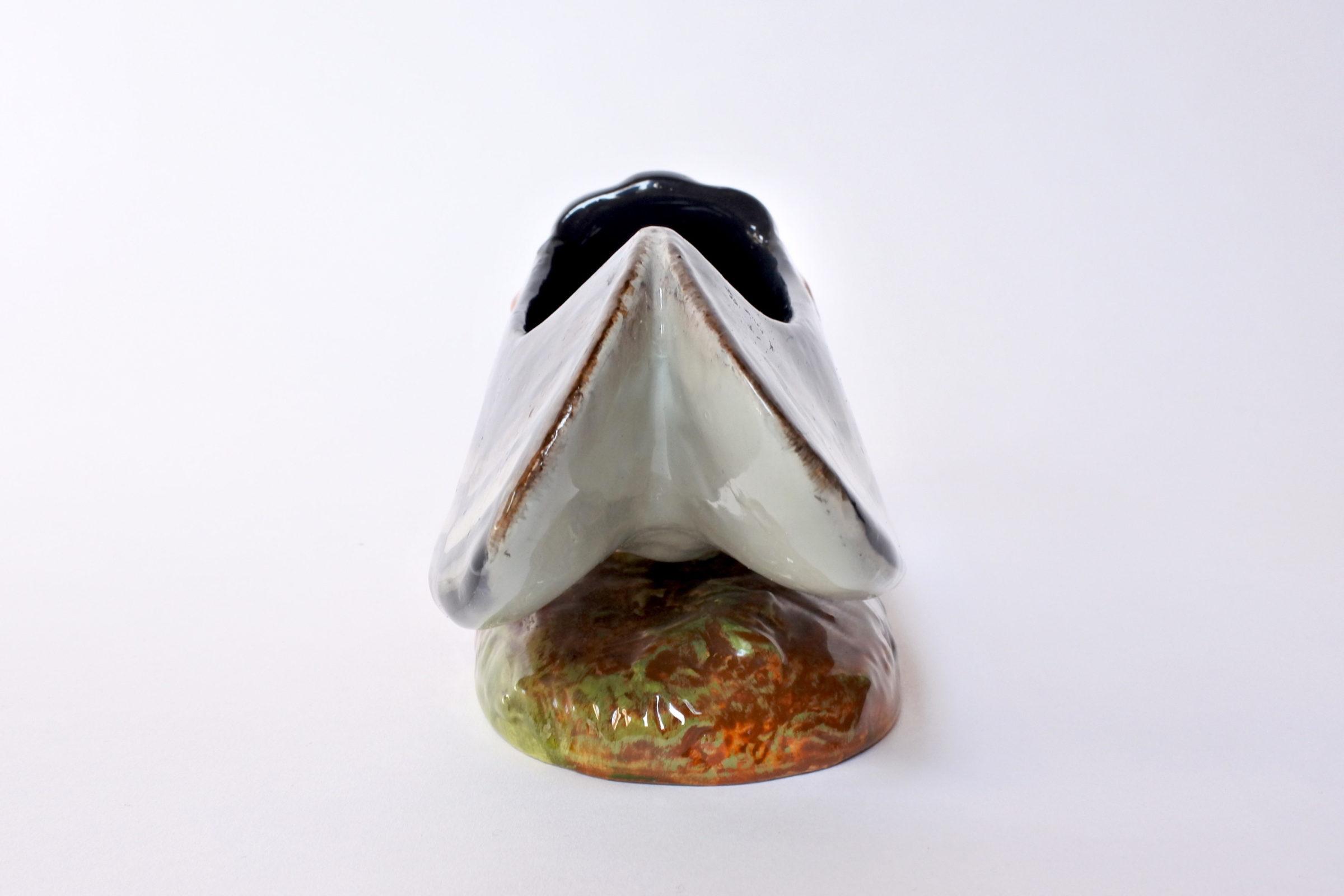 Jardinière Massier in ceramica barbotine a forma di cicala - 3