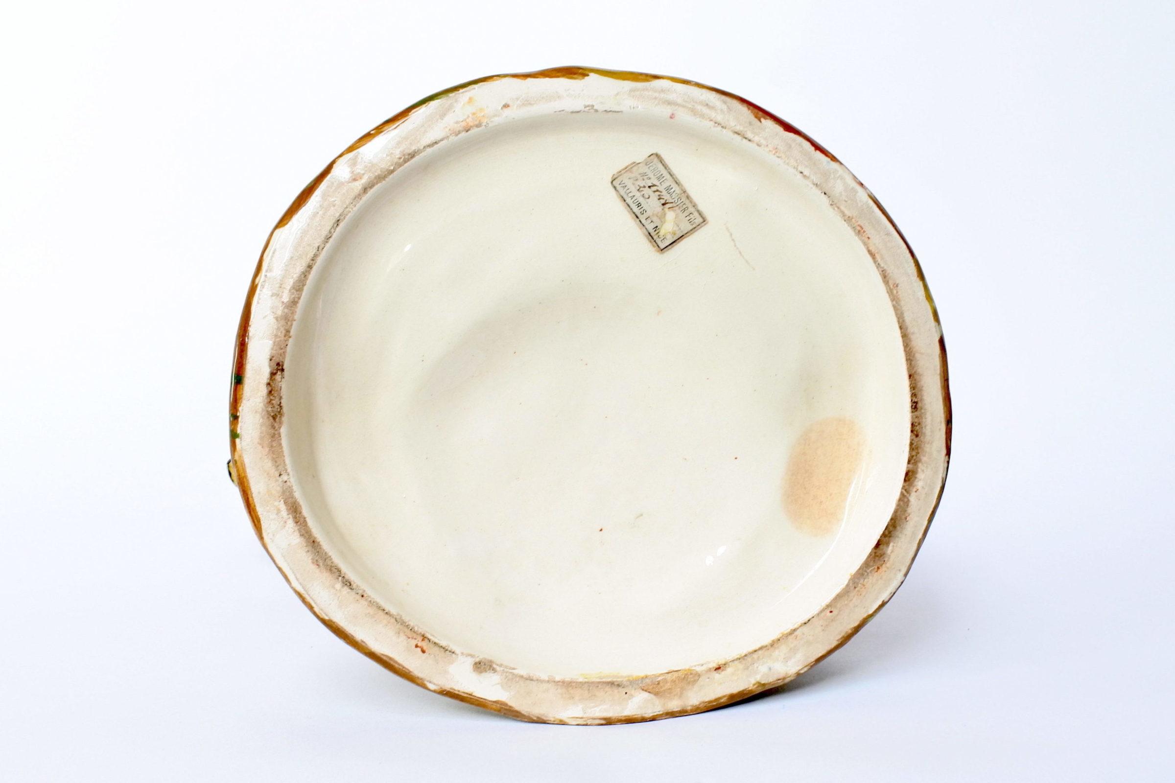 Portafiori in ceramica barbotine rappresentante testa di clown - 5