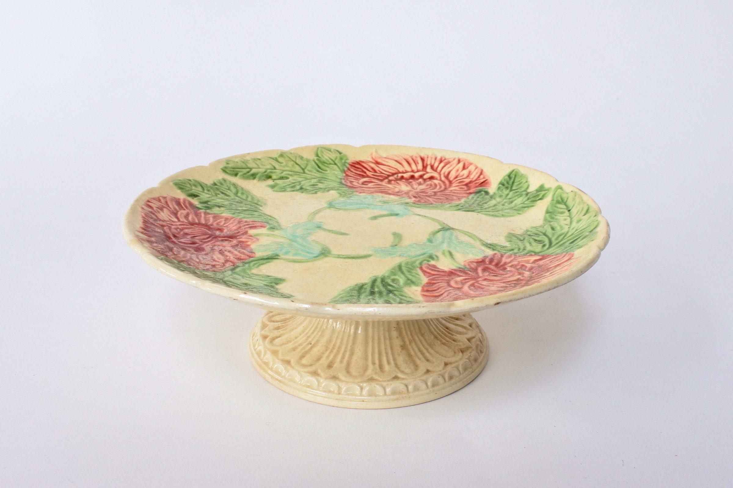 Alzatina in ceramica barbotine