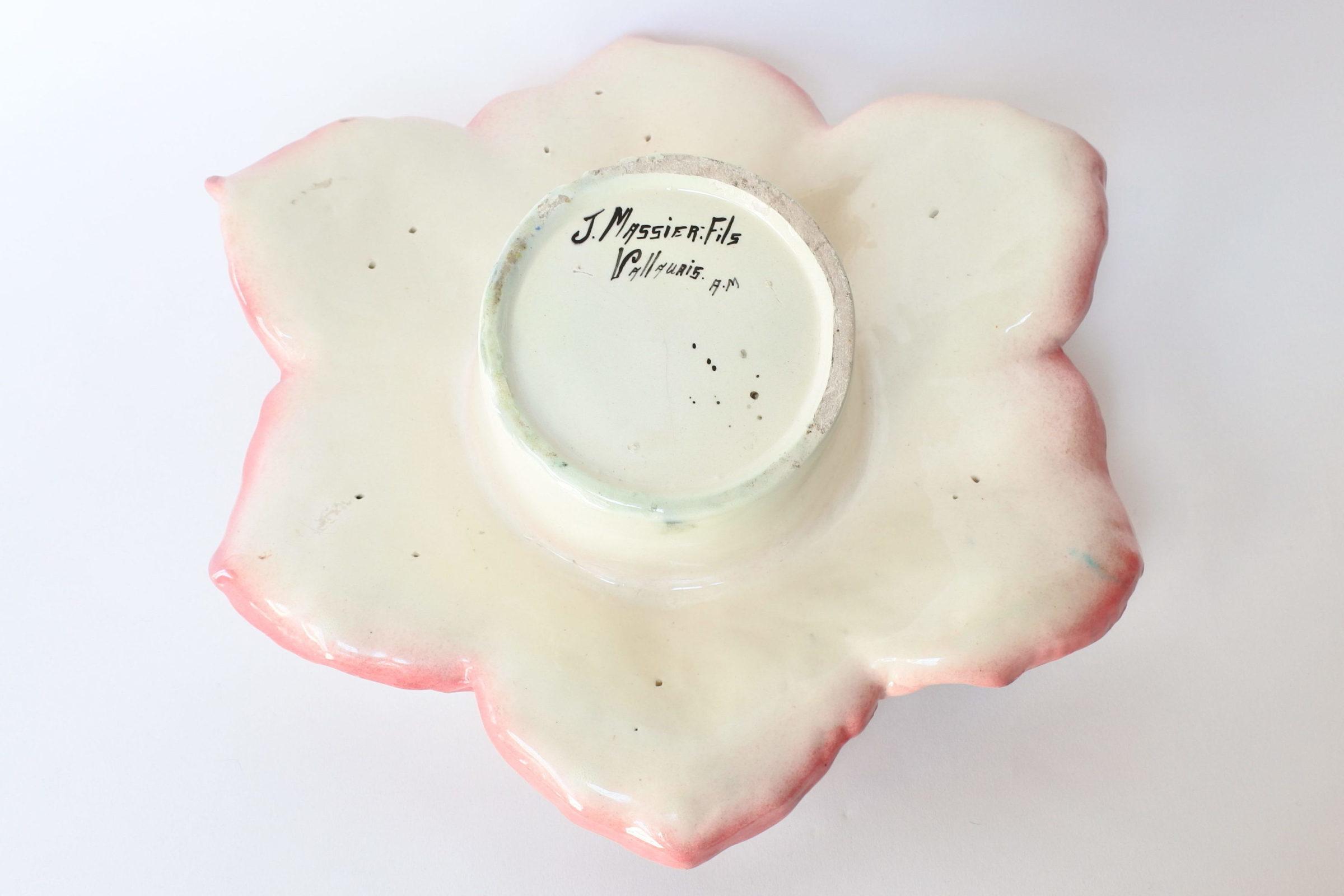 Cache pot Massier in ceramica barbotine a forma di anemone - 6