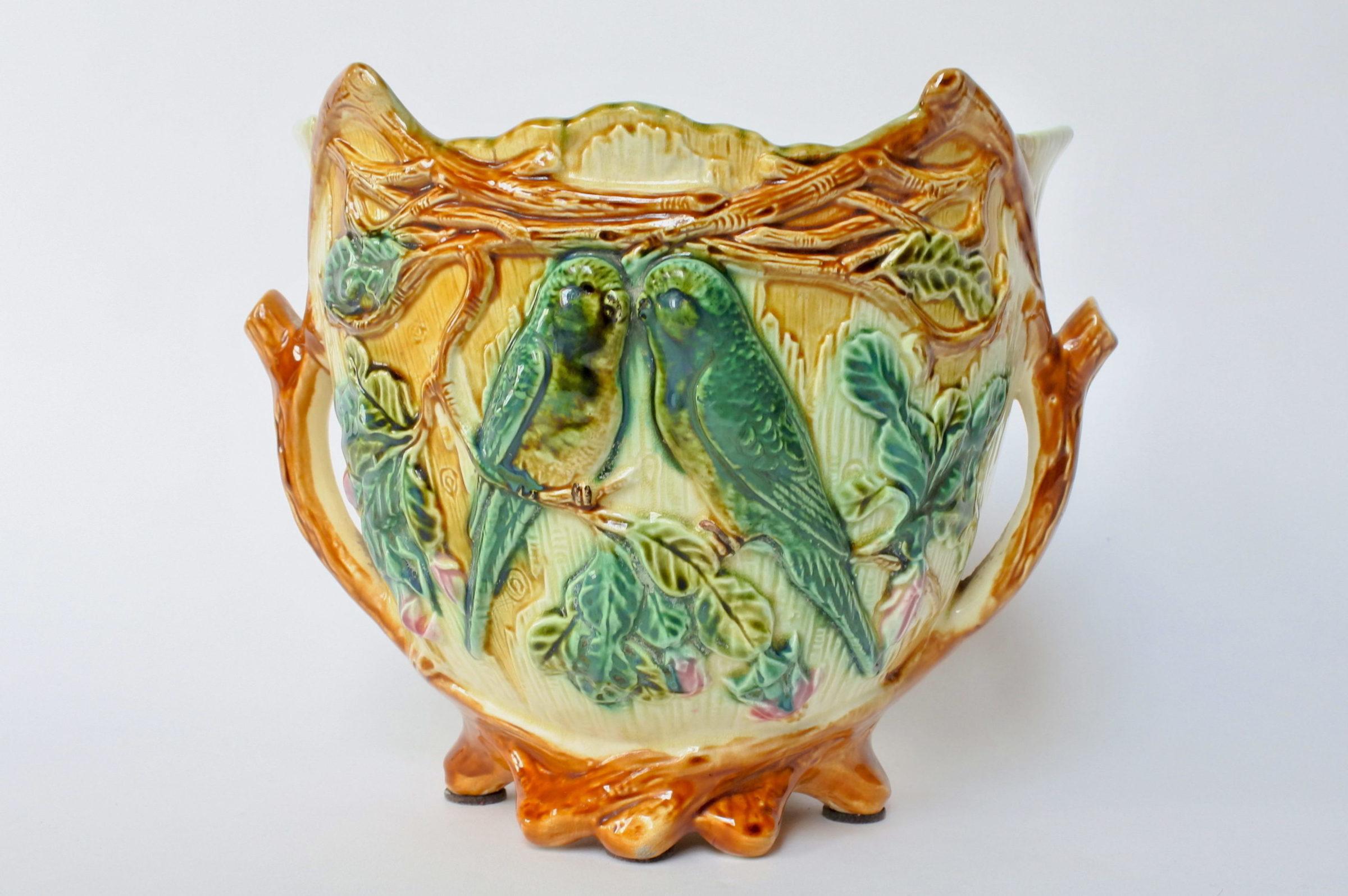Cache pot in ceramica barbotine - Onnaing n° 352