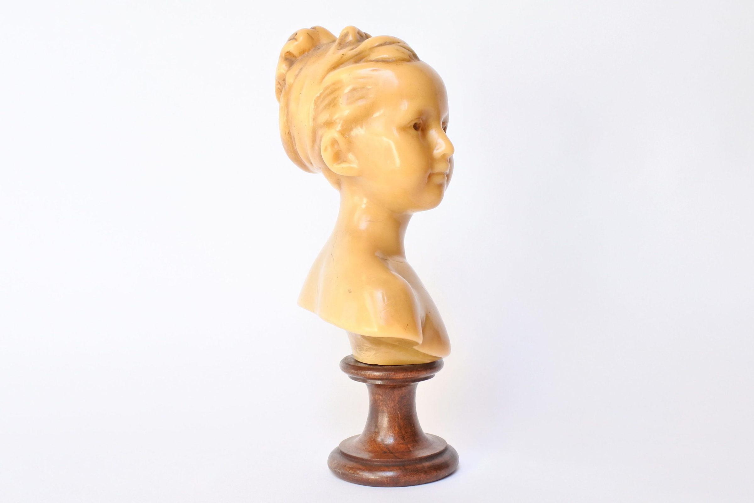 Busto di donna in cera - 4