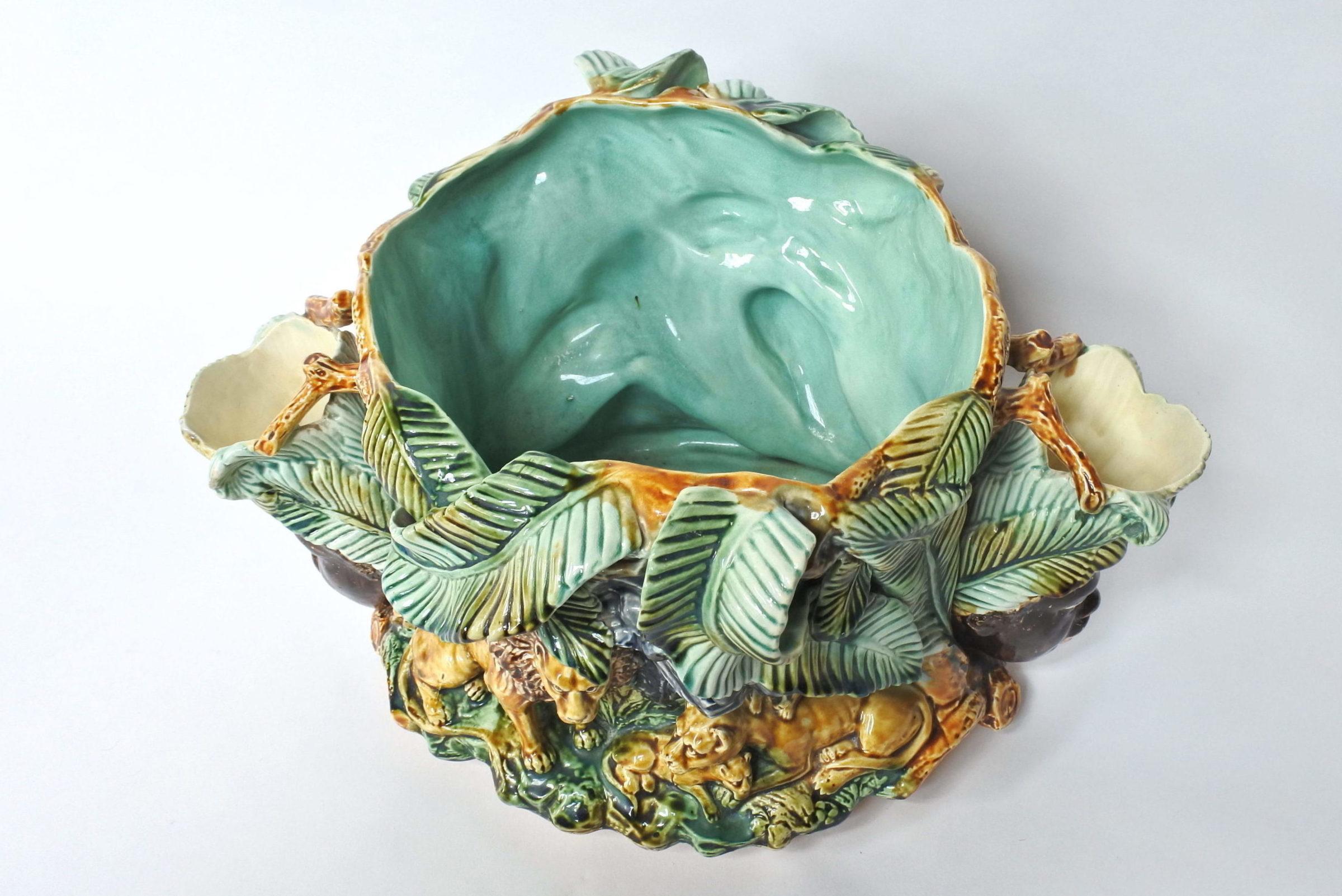Centrotavola in ceramica barbotine con funzione di jardinière - Onnaing - 10
