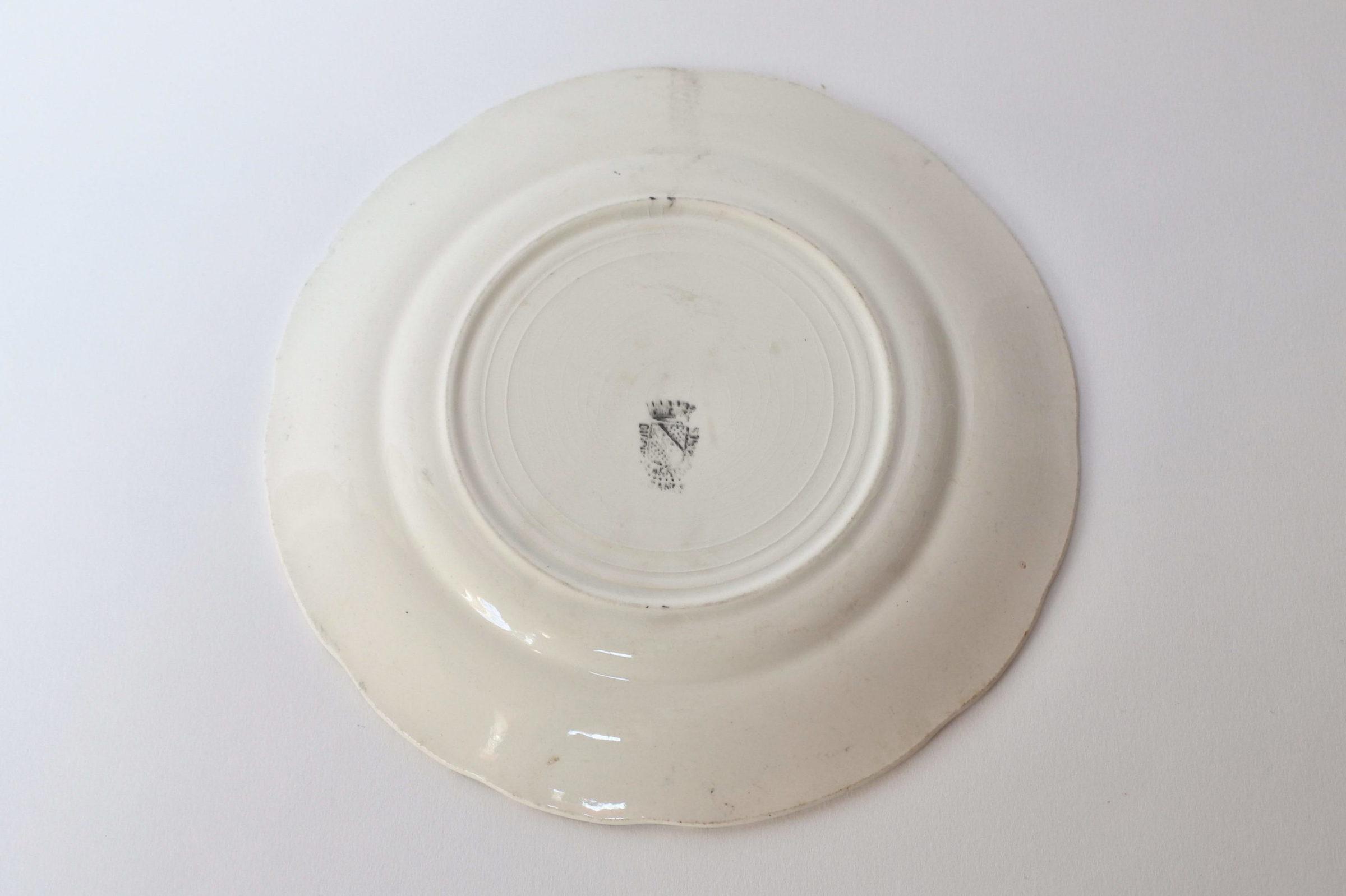Piatto in ceramica con decoro Napoleone Bonaparte - Sarreguemines - 2