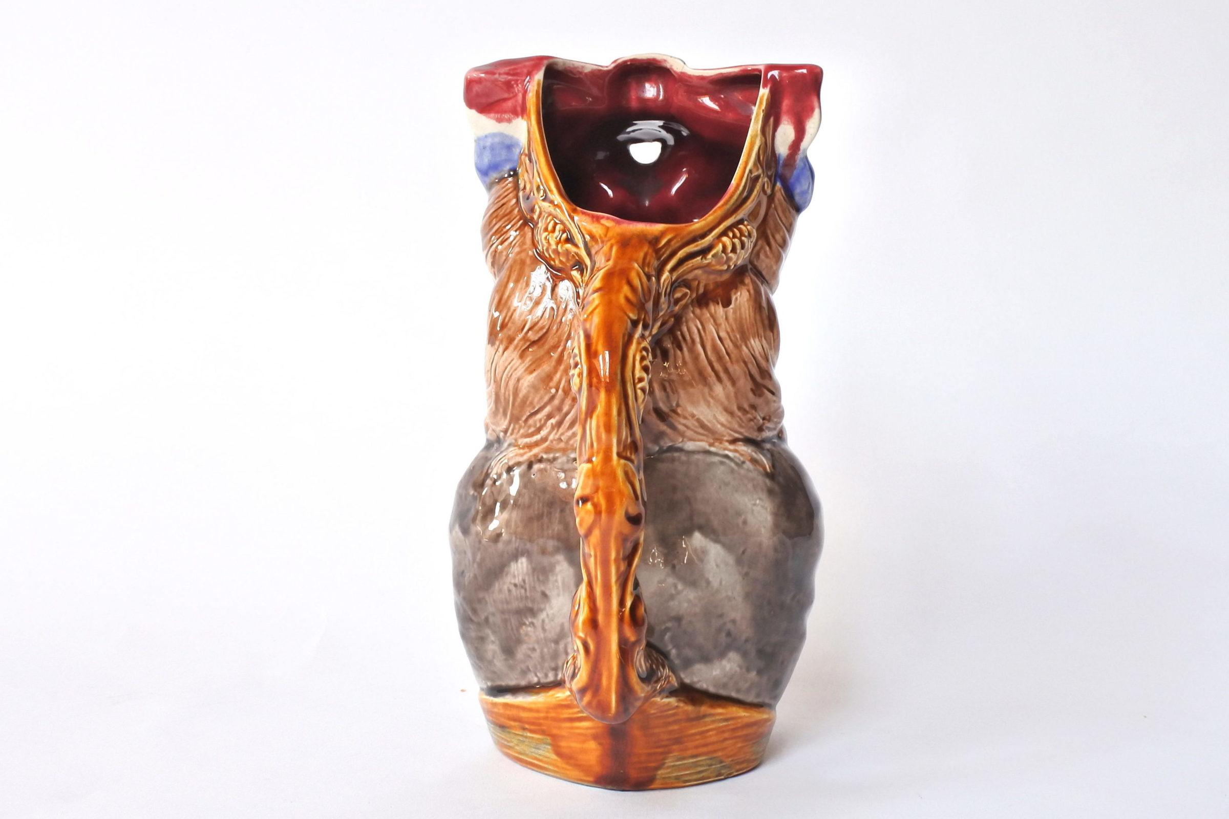 Brocca in ceramica barbotine a forma di volto donna - Onnaing n° 808 - 3