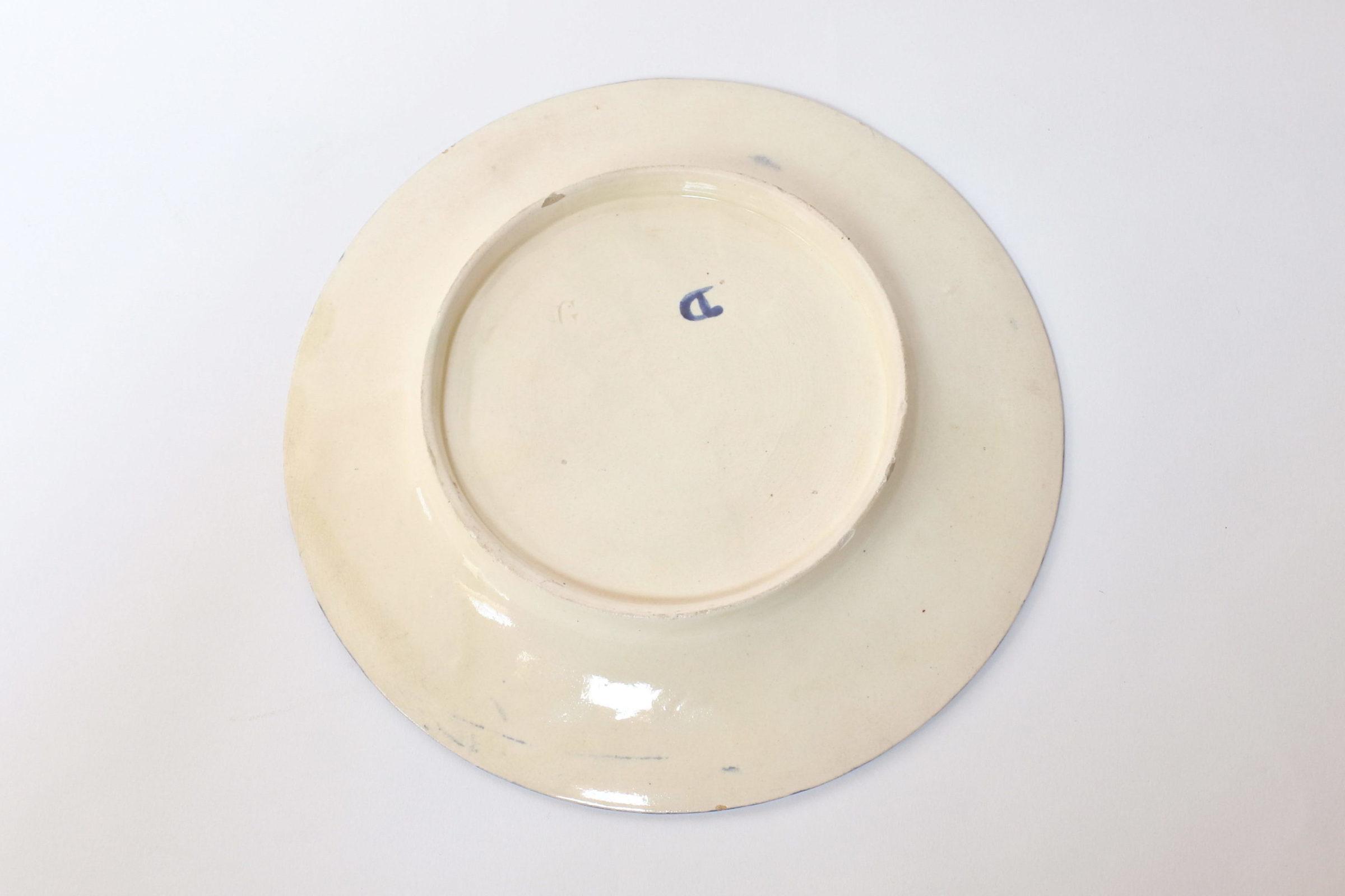 Piatto in ceramica barbotine per asparagi con girasole - 2