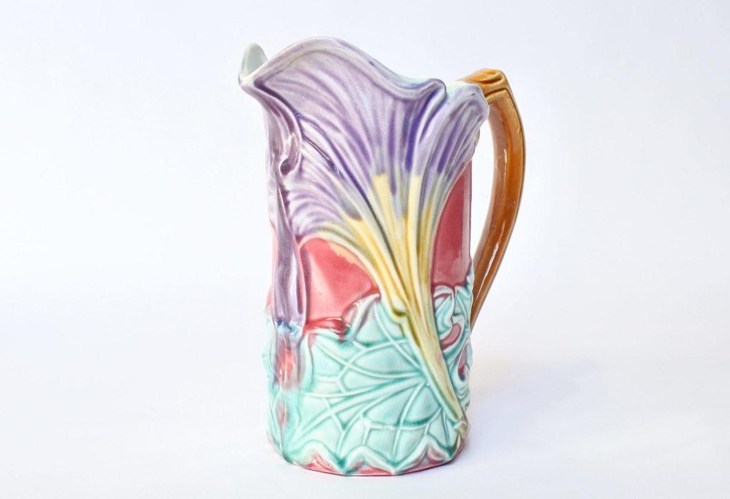 Brocca in ceramica barbotine con calla - Onnaing n° 828
