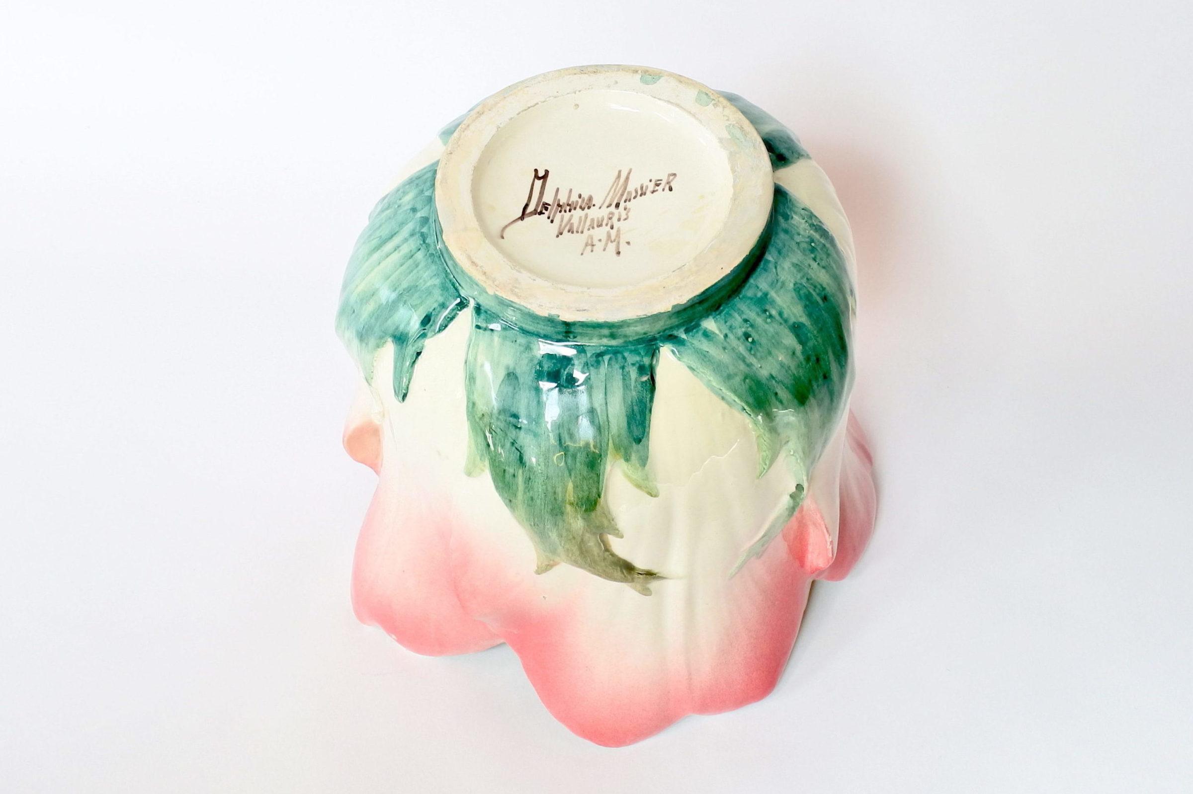 Cache pot Massier in ceramica barbotine a forma di fiore - Delphin Massier - 5