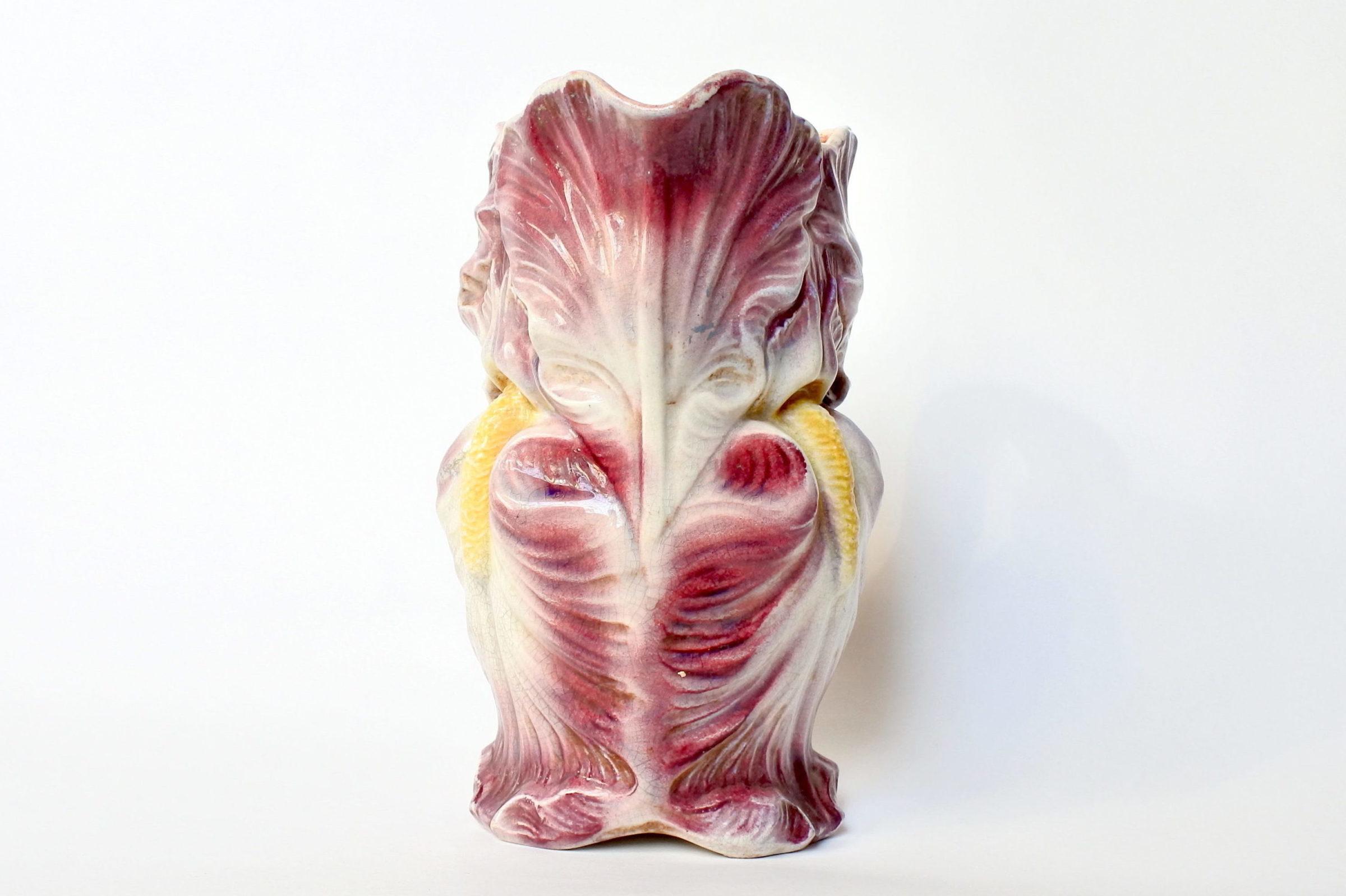 Brocca in ceramica barbotine a forma di iris - Onnaing n° 813 - 5