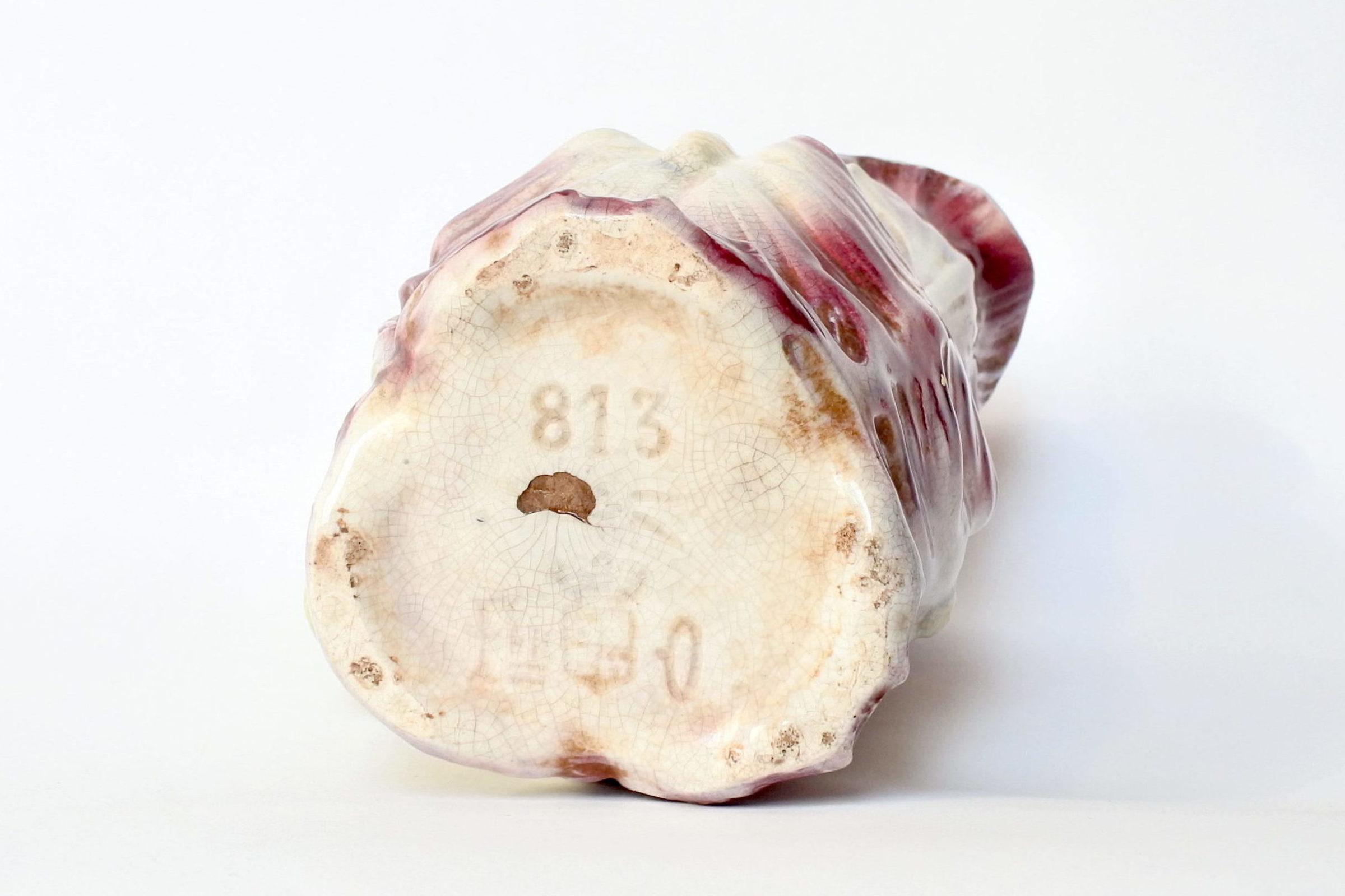 Brocca in ceramica barbotine a forma di iris - Onnaing n° 813 - 7