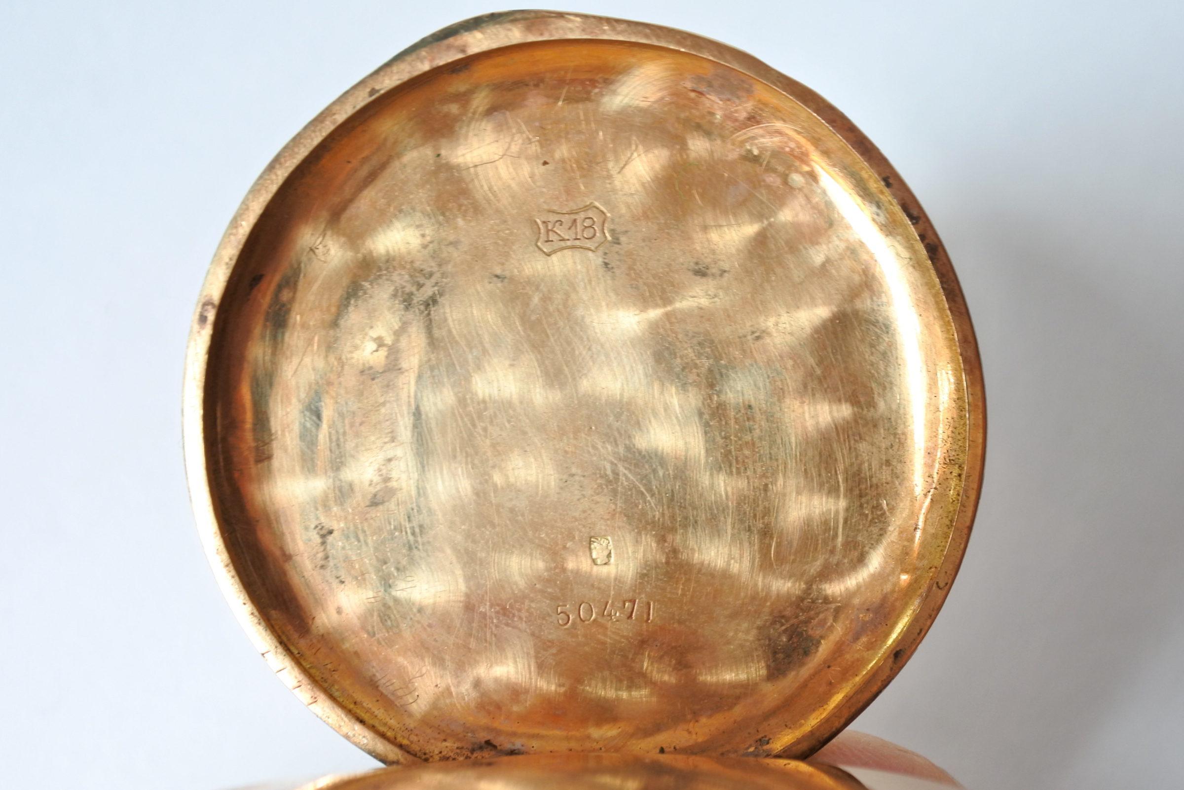 Orologio da tasca in oro 18k - 3