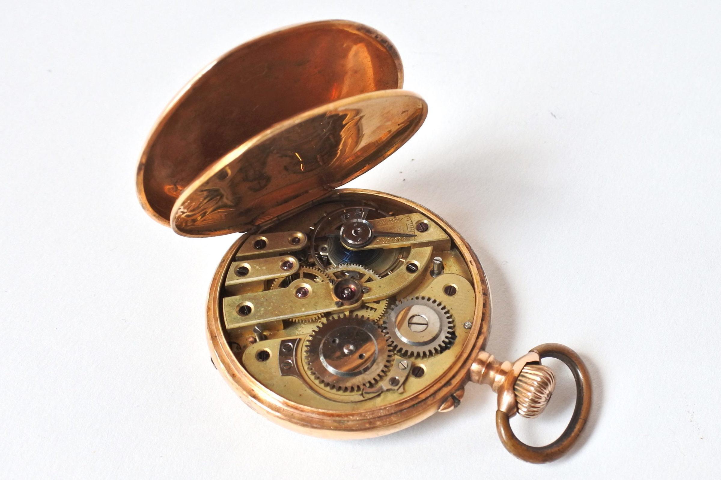 Orologio da tasca in oro 18k - 7