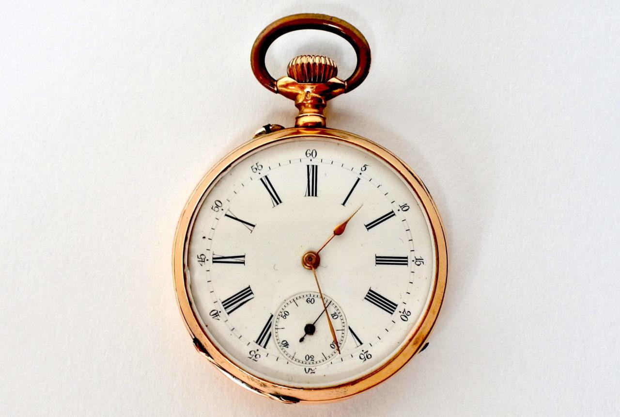 Orologio da tasca in oro 18k