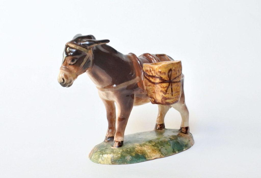 Asino in ceramica barbotine - manifattura Jérôme Massier