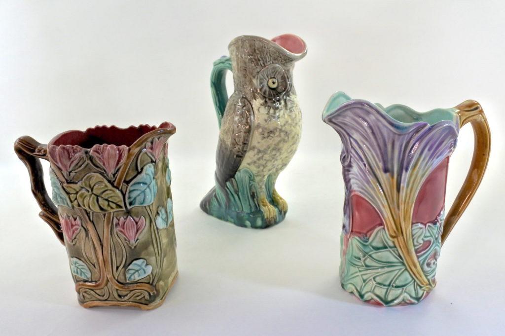 Brocche in ceramica barbotine del XIX° e XX° secolo